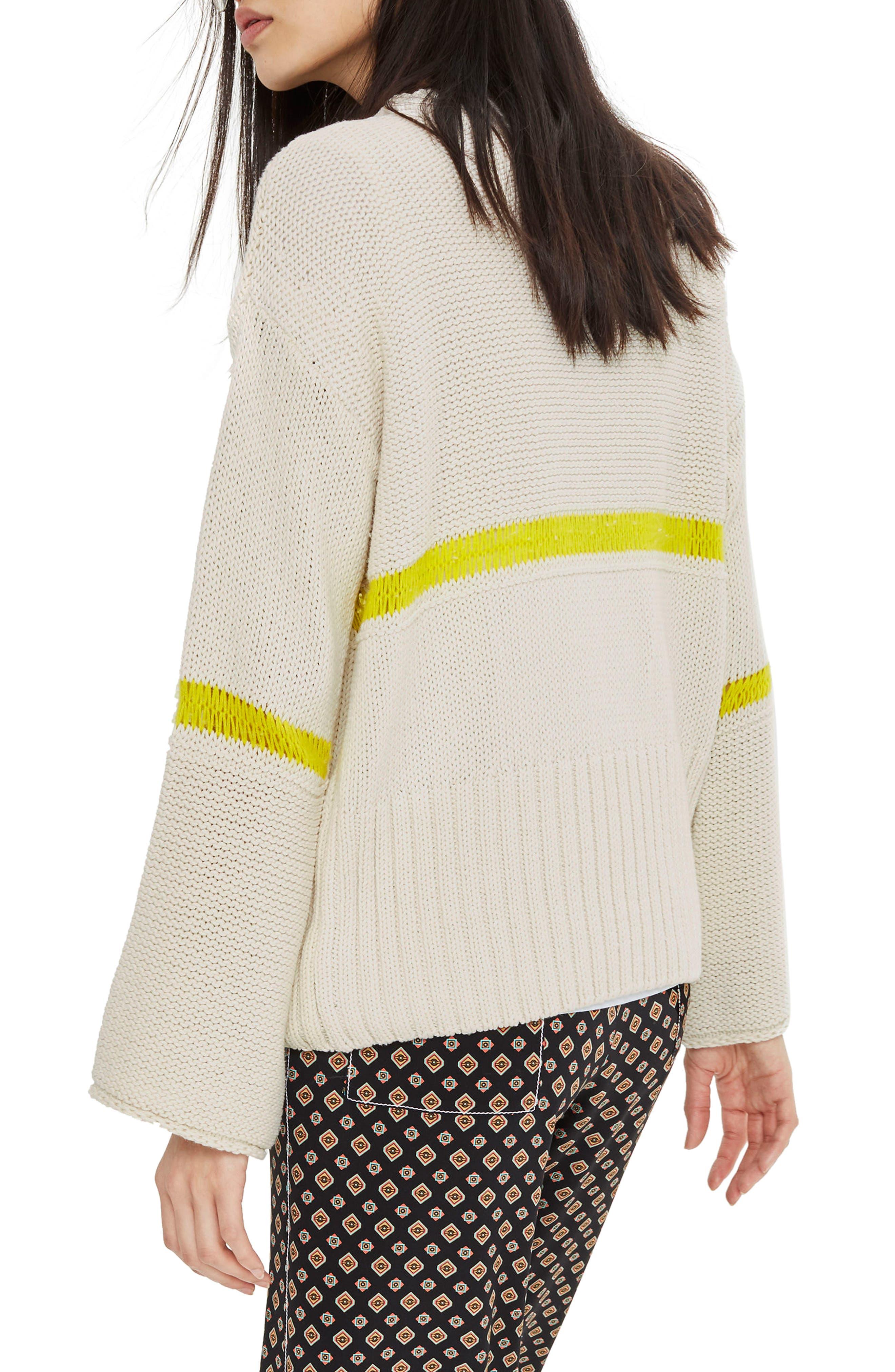 Stripe Yarn Sweater,                             Alternate thumbnail 3, color,                             Ivory Multi