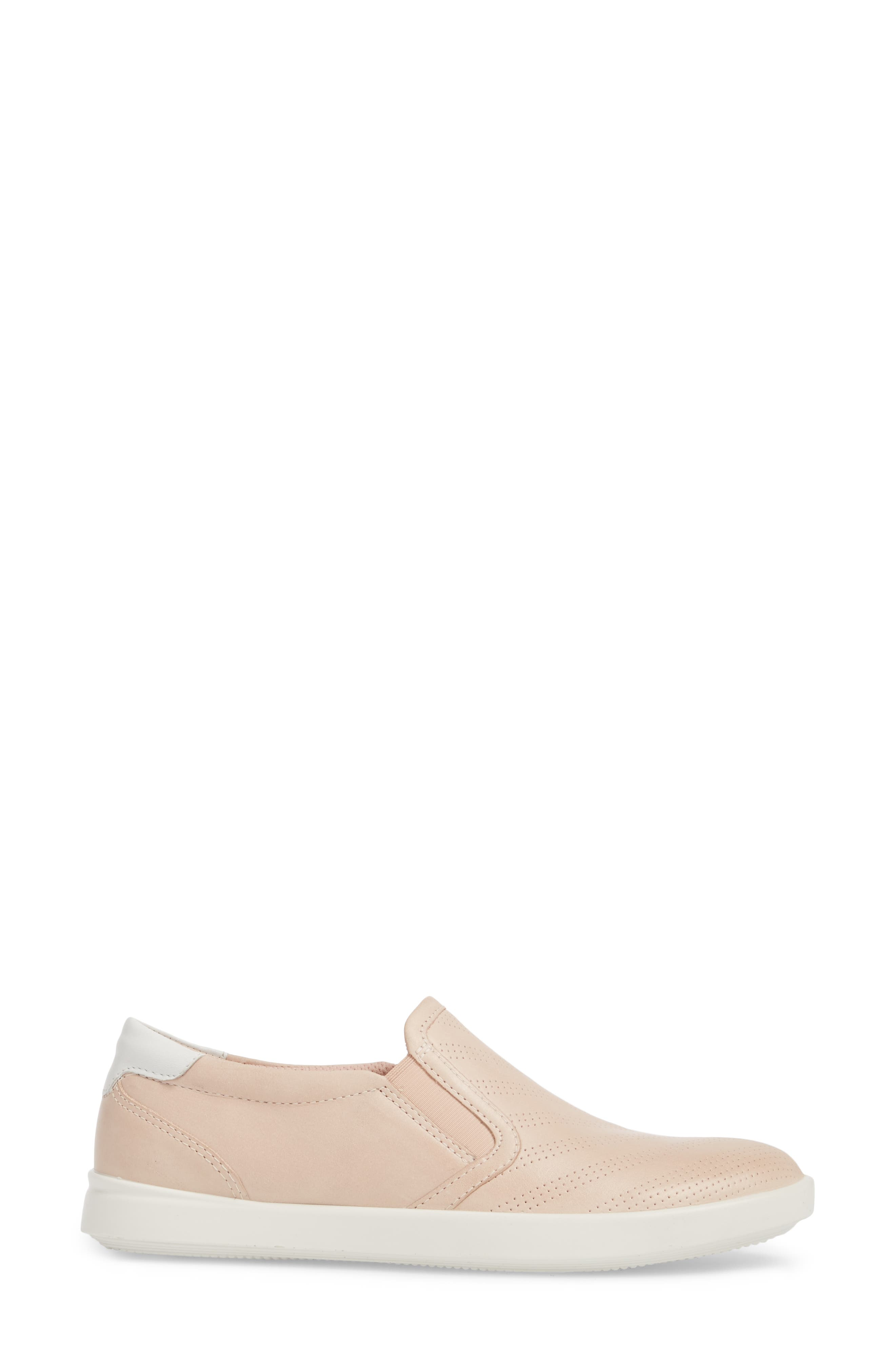 'Aimee' Slip-On Sneaker,                             Alternate thumbnail 3, color,                             Rose Dust Leather
