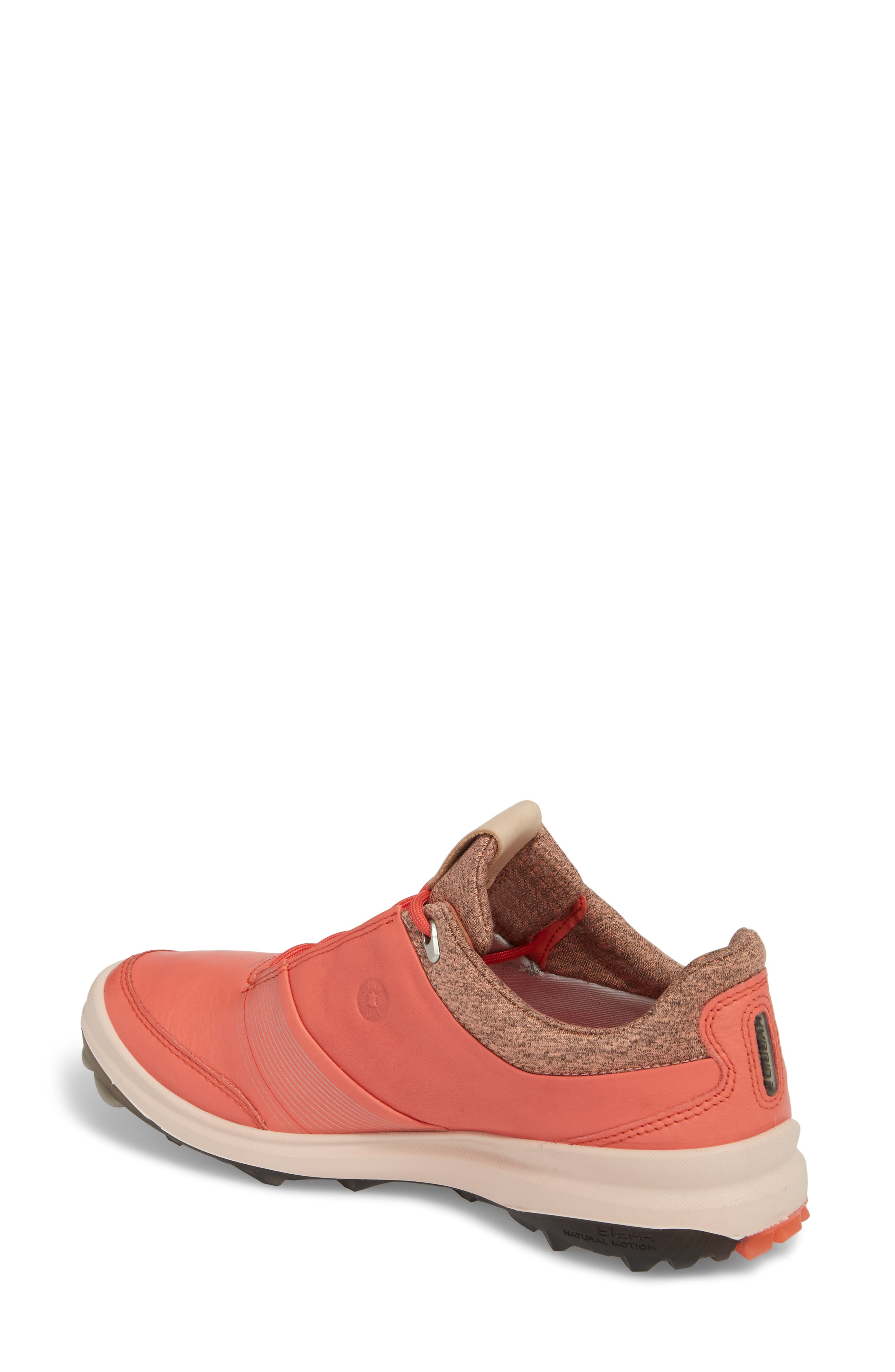 BIOM 2 Hybrid Gore-Tex<sup>®</sup> Golf Shoe,                             Alternate thumbnail 2, color,                             Spiced Coral Leather