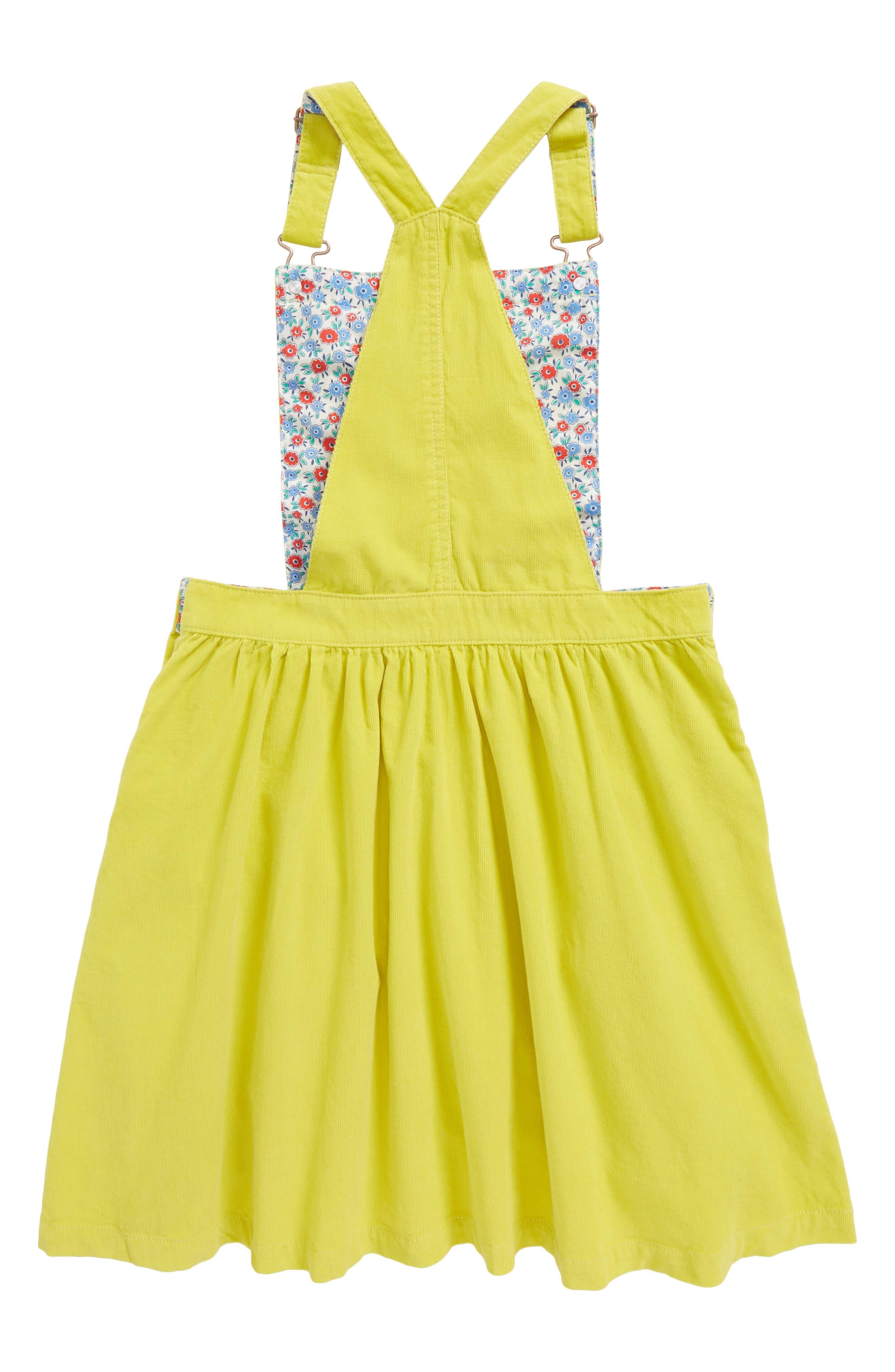 Corduroy Dress,                             Alternate thumbnail 2, color,                             Zest Yellow