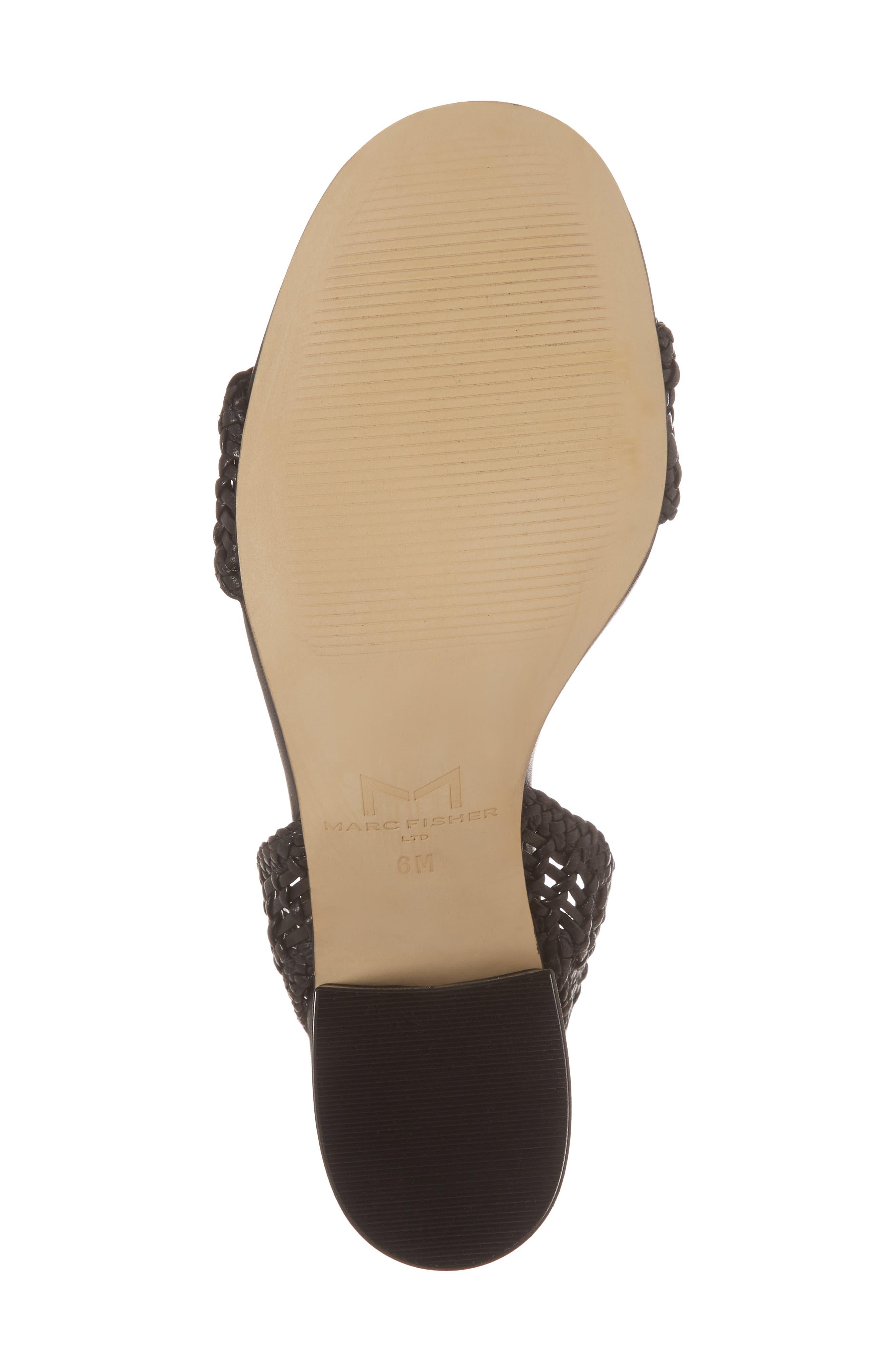 Amere Ankle Strap Sandal,                             Alternate thumbnail 6, color,                             Black Leather
