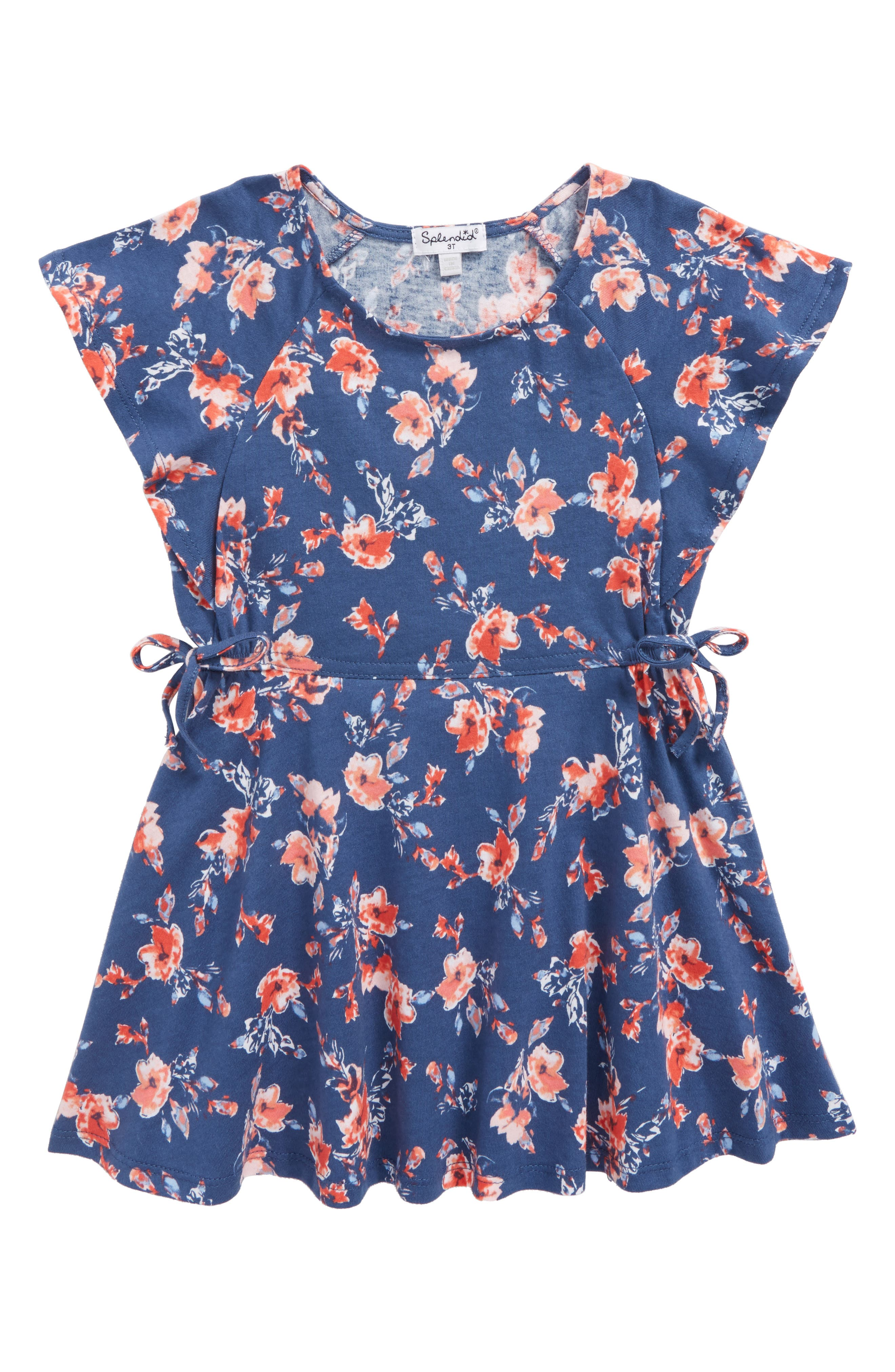Ruffle Dress,                             Main thumbnail 1, color,                             Indigo Fade