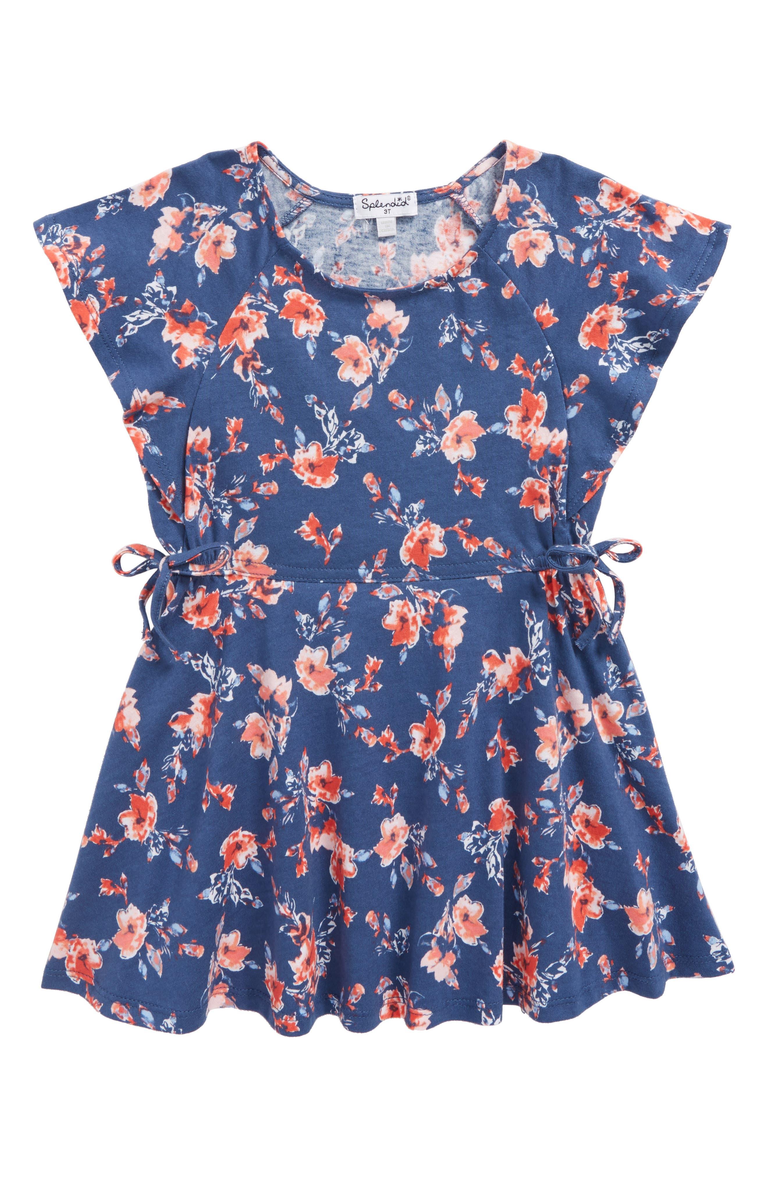 Ruffle Dress,                         Main,                         color, Indigo Fade