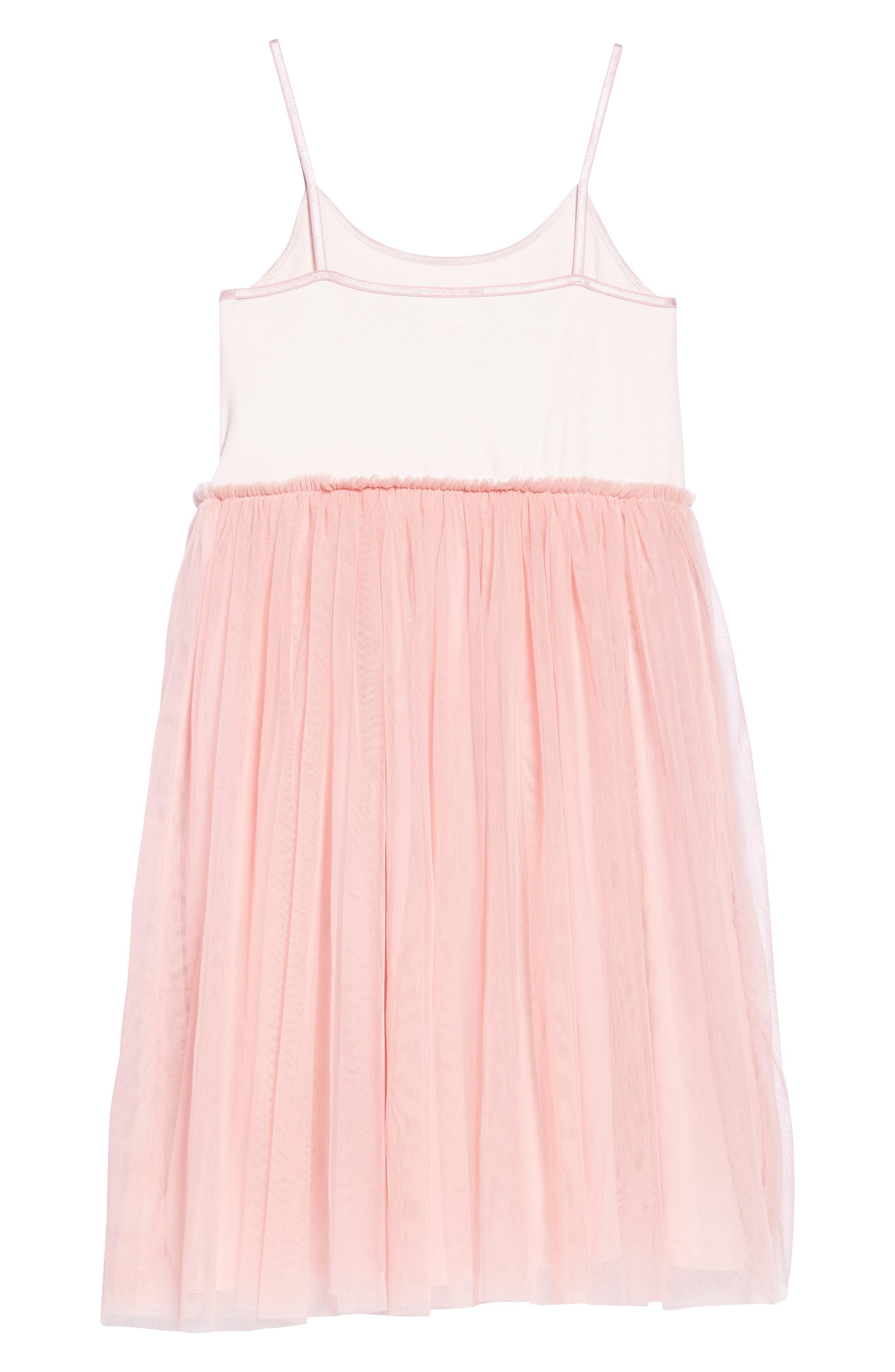 Alternate Image 2  - Masala Baby Sequin Heart Dress with Tulle Skirt (Toddler Girls, Little Girls & Big Girls)