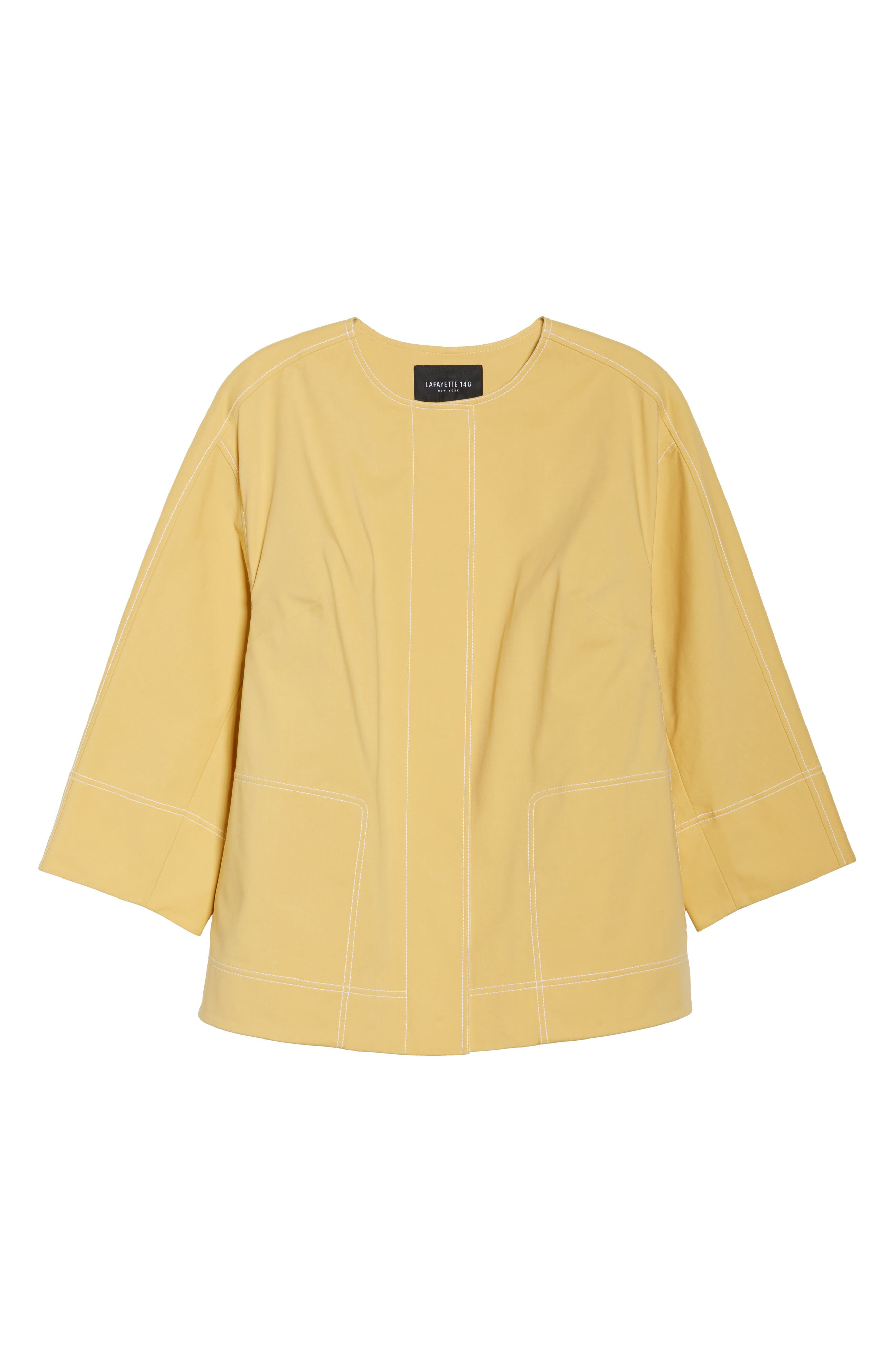 Milo Zip Jacket,                             Alternate thumbnail 6, color,                             Sienna Yellow