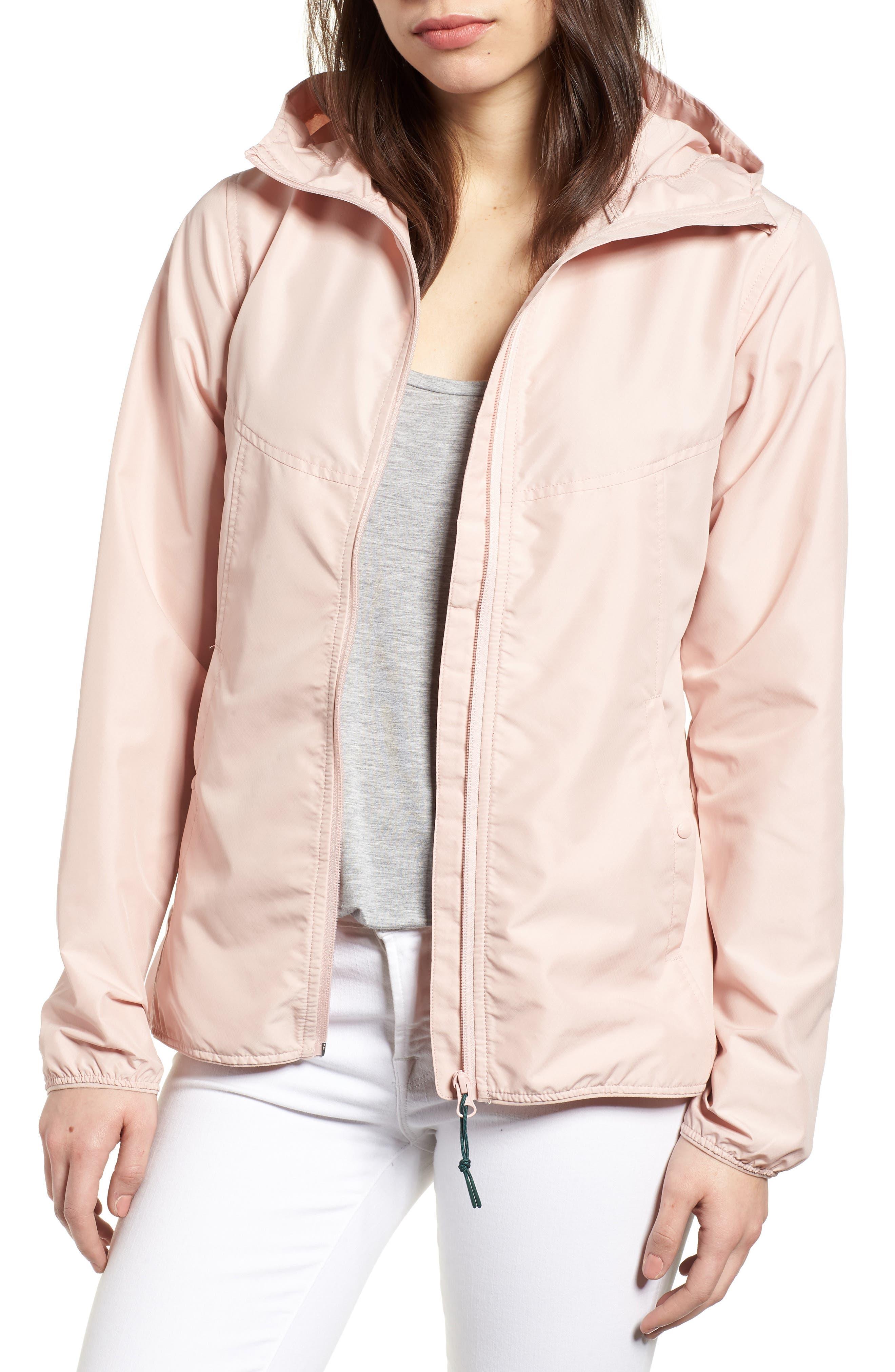 oyage Wind Hooded Jacket,                         Main,                         color, Ash Rose