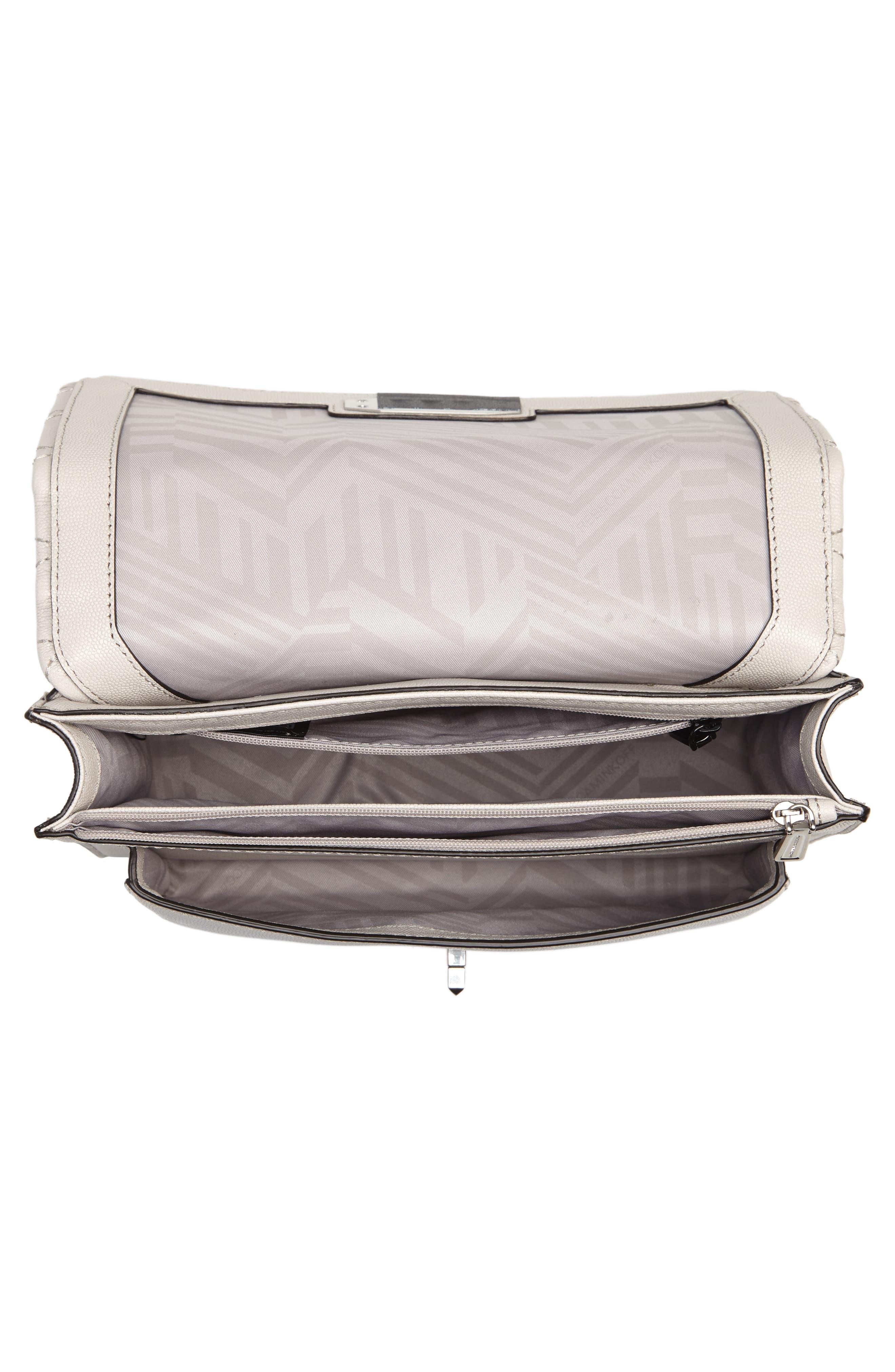 Medium Je T'aime Convertible Leather Crossbody Bag,                             Alternate thumbnail 4, color,                             Putty