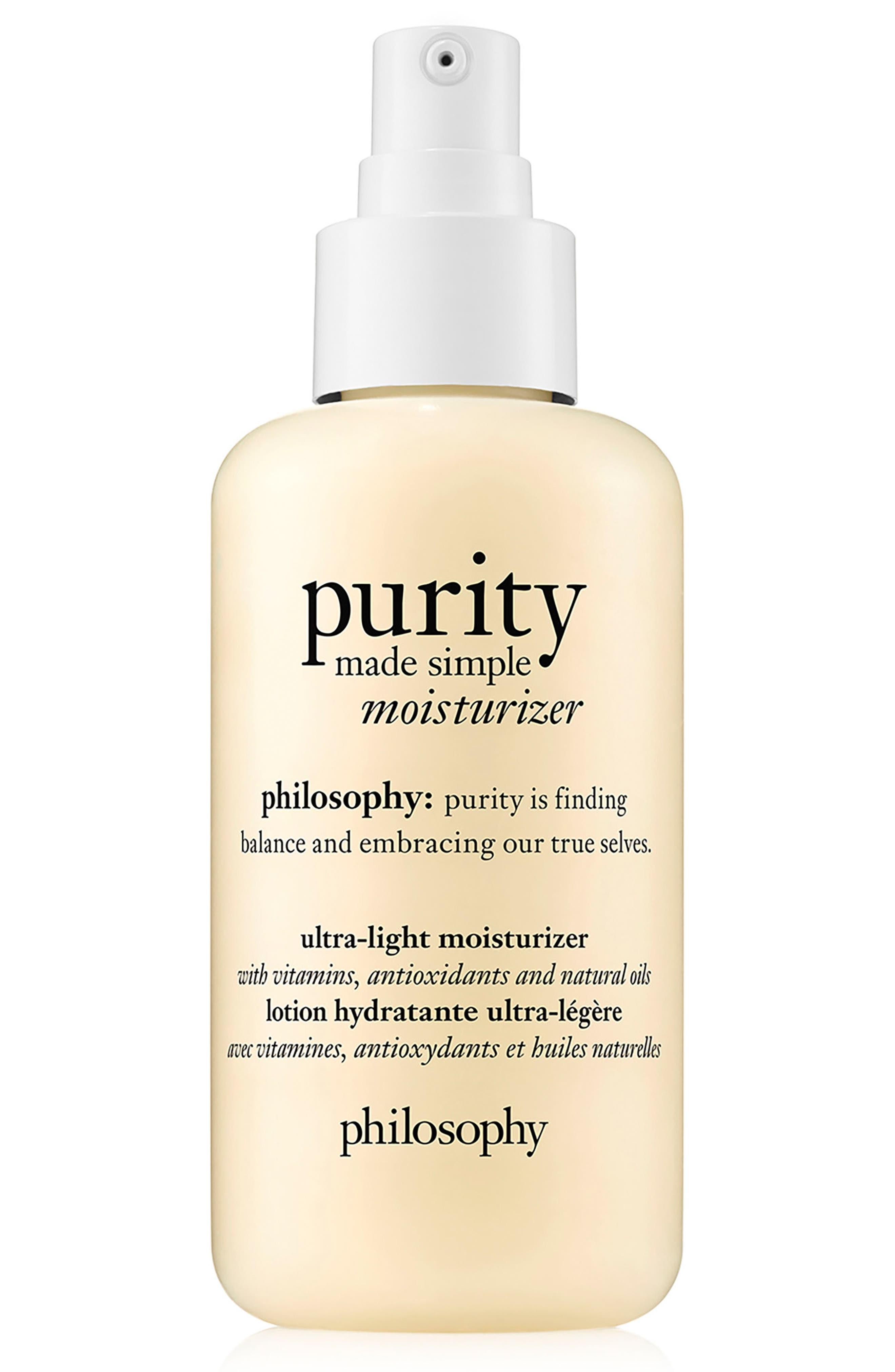 purity made simple ultra-light moisturizer,                         Main,                         color, No Color