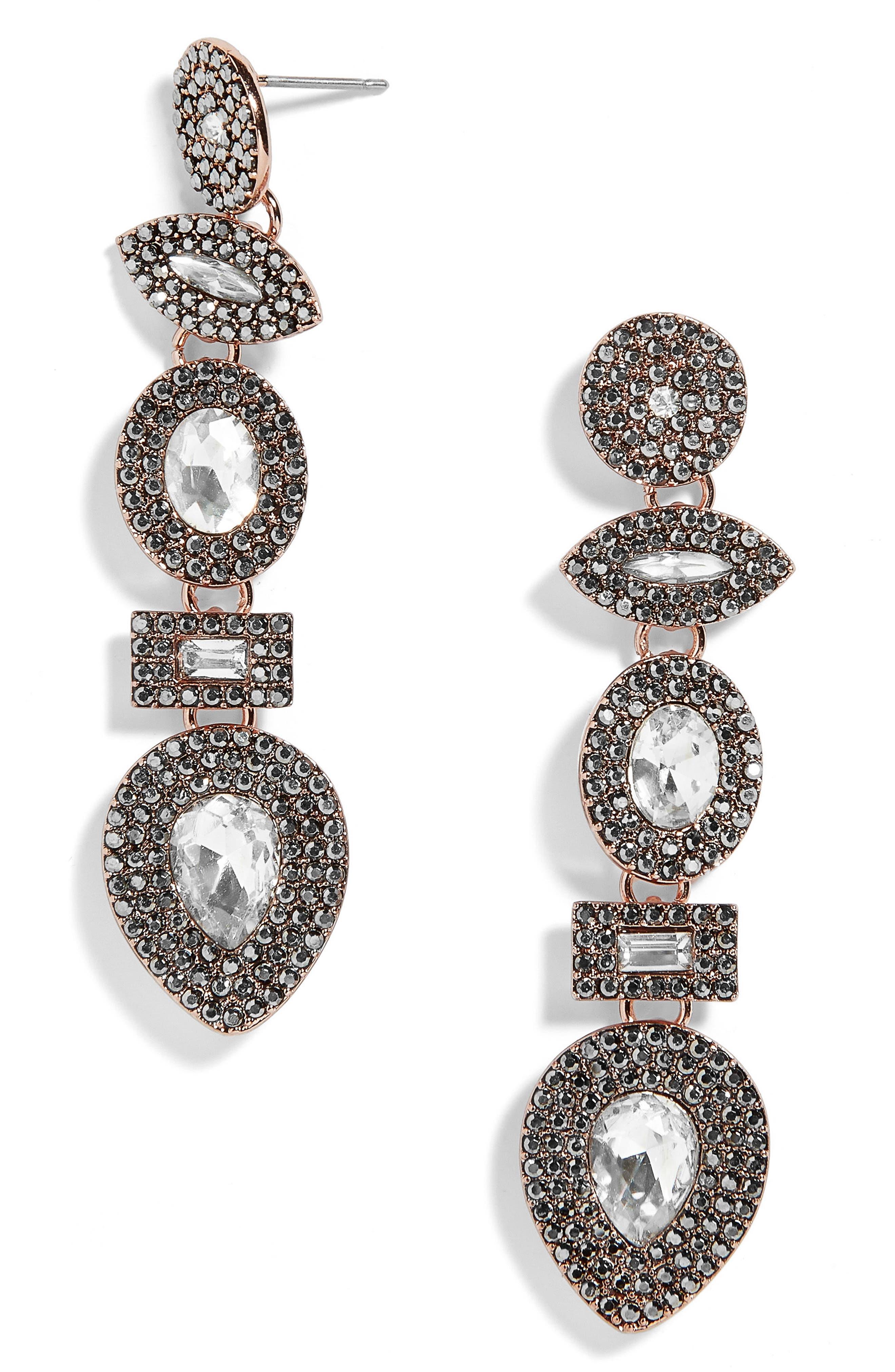 Dina Drop Earrings,                         Main,                         color, Dark Grey