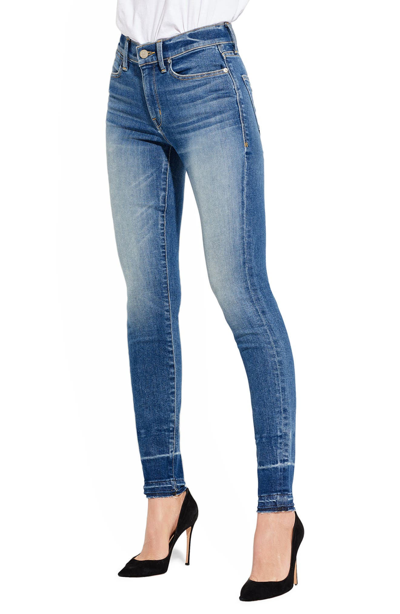 The Chiller High Waist Skinny Jeans,                             Main thumbnail 1, color,                             Pecking Disco