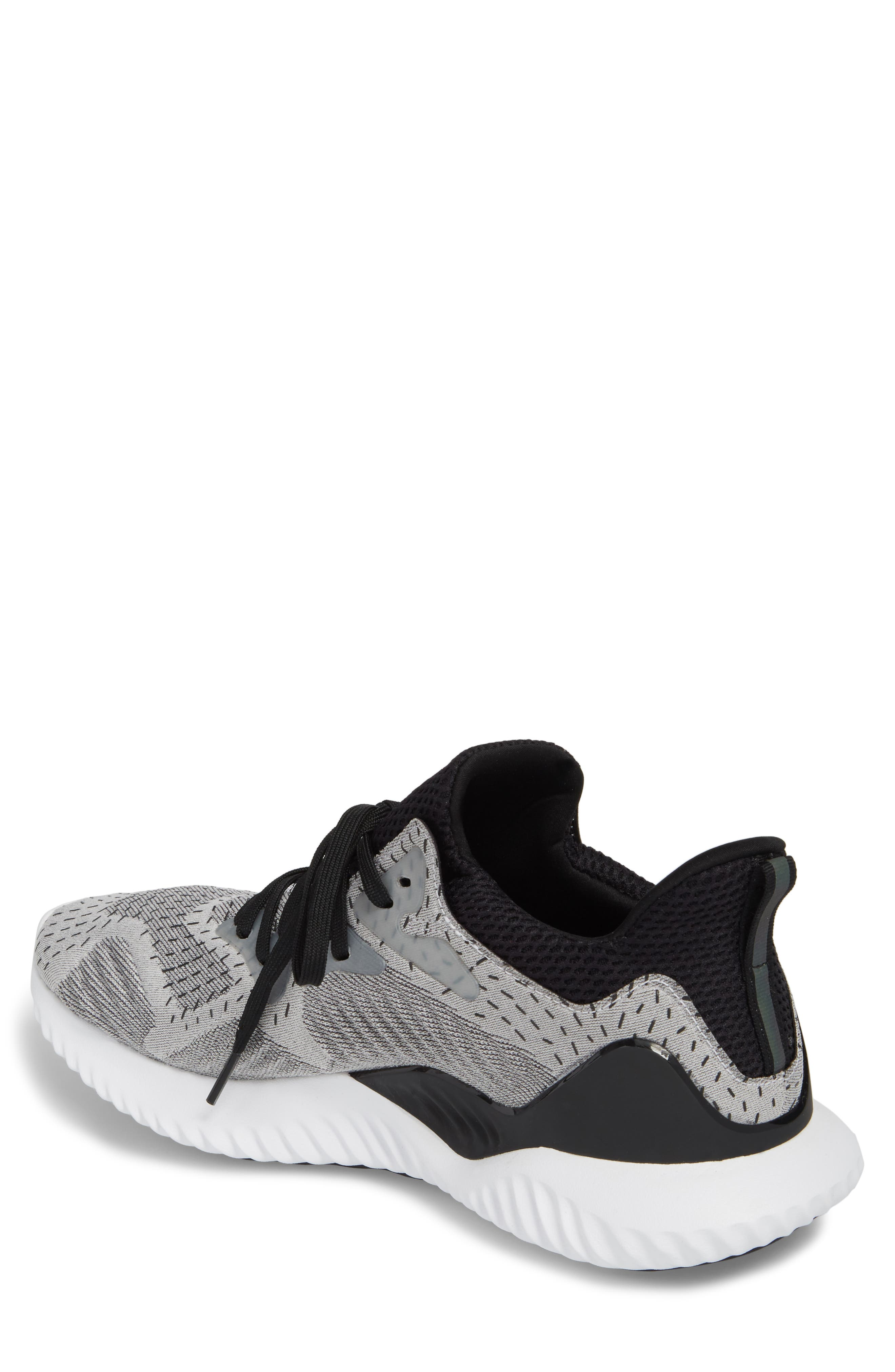 AlphaBounce Beyond Knit Running Shoe,                             Alternate thumbnail 2, color,                             White/ Core Black