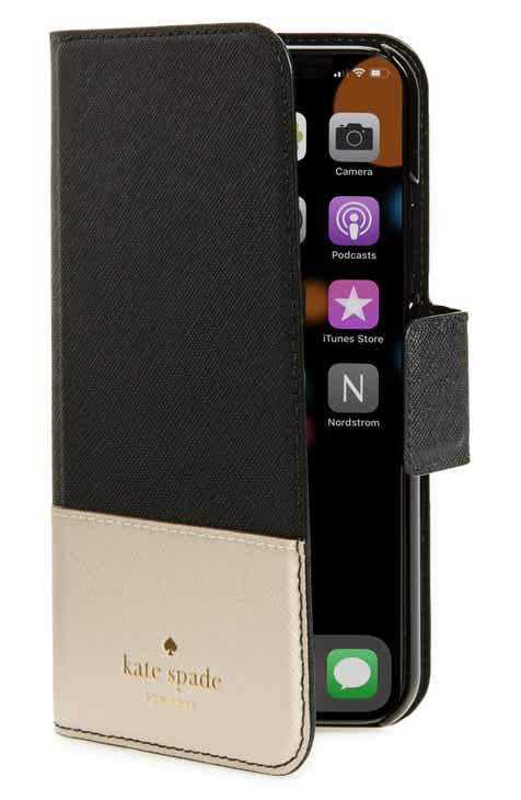 kate spade new york leather wrap iPhone X Xs folio case a8f7789b49