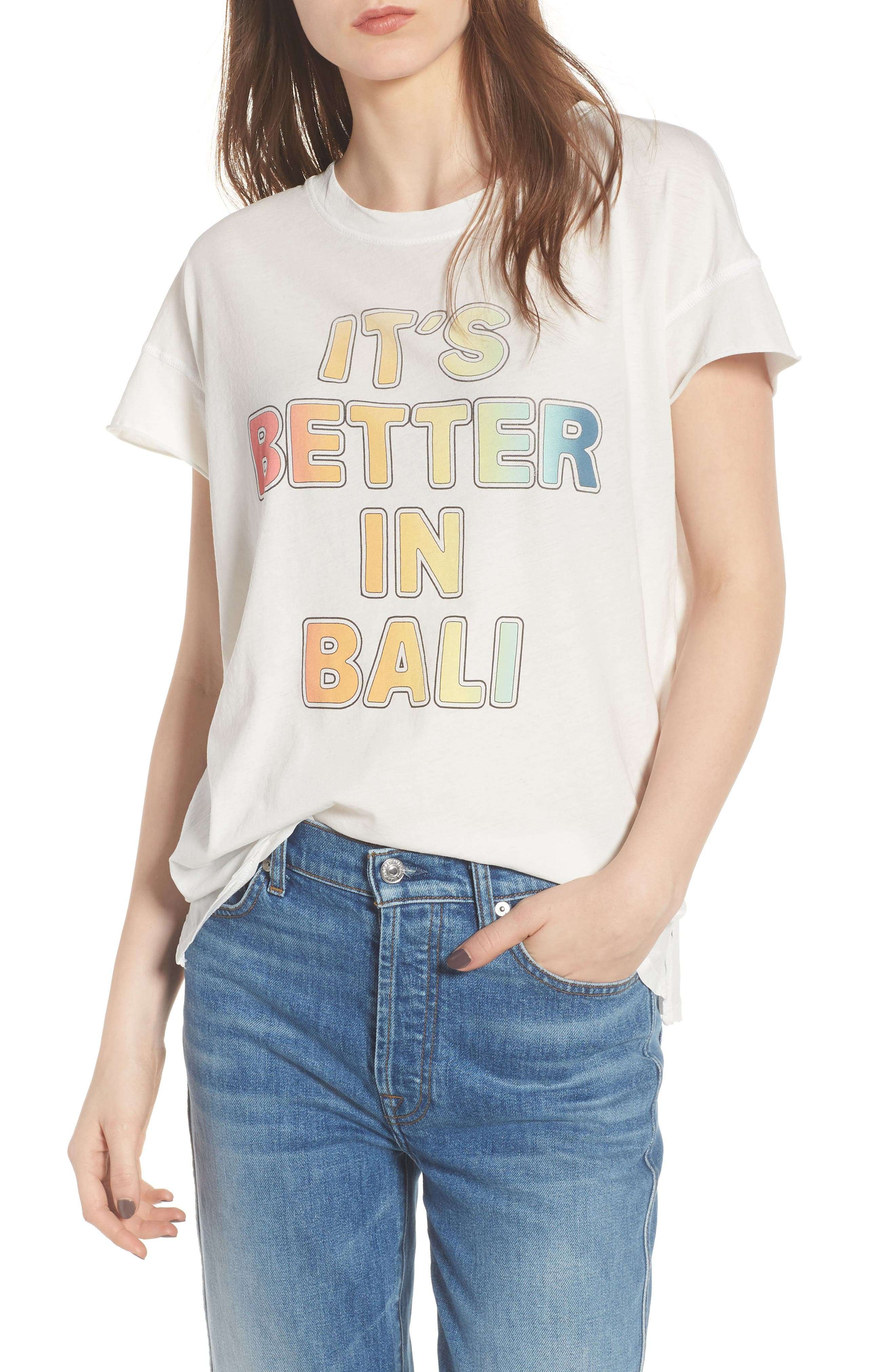 Better in Bali Tee,                             Main thumbnail 1, color,                             Vintage White