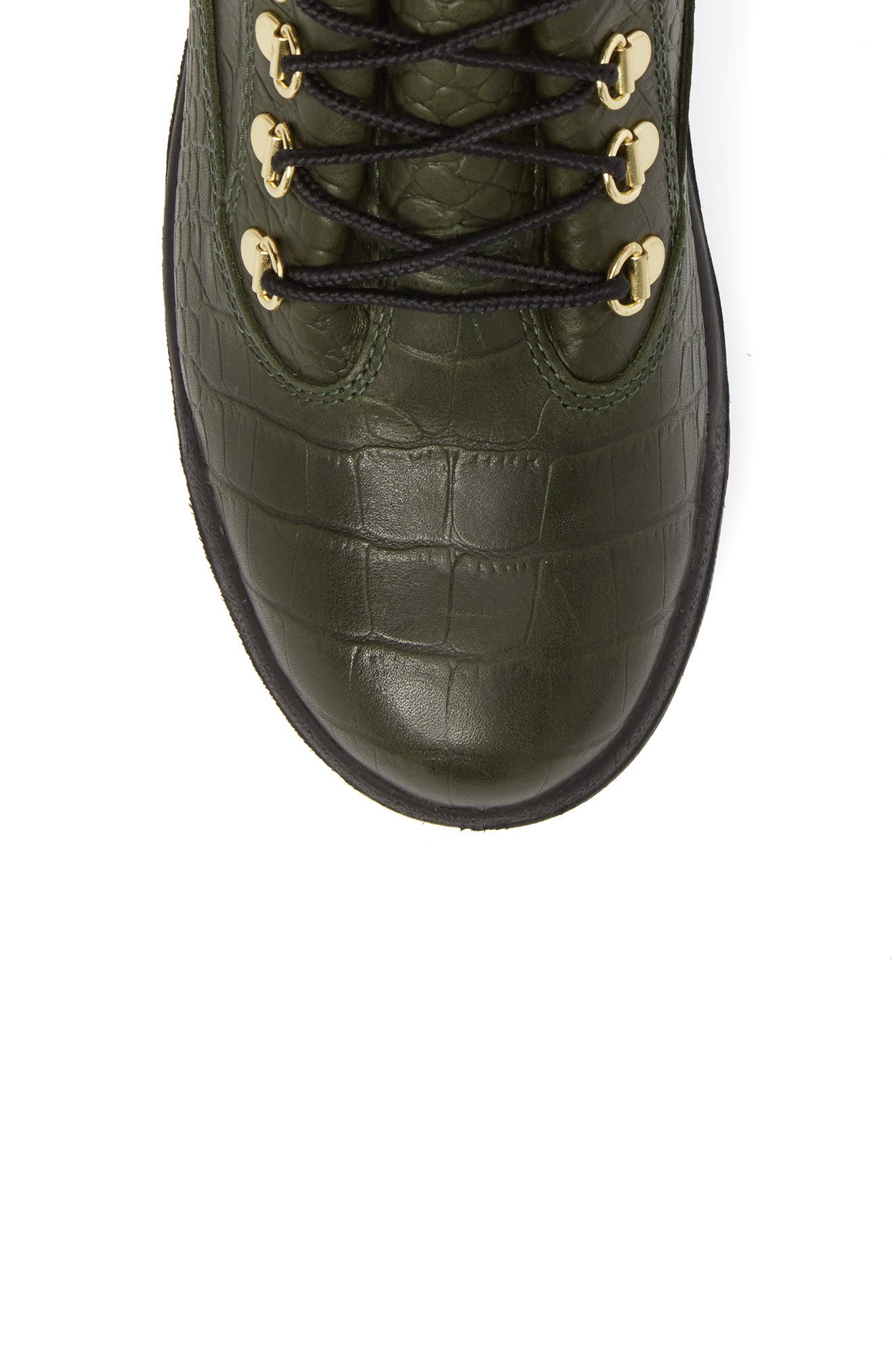 Field Waterproof Boot,                             Alternate thumbnail 5, color,                             Green/ Cardinal Exotic