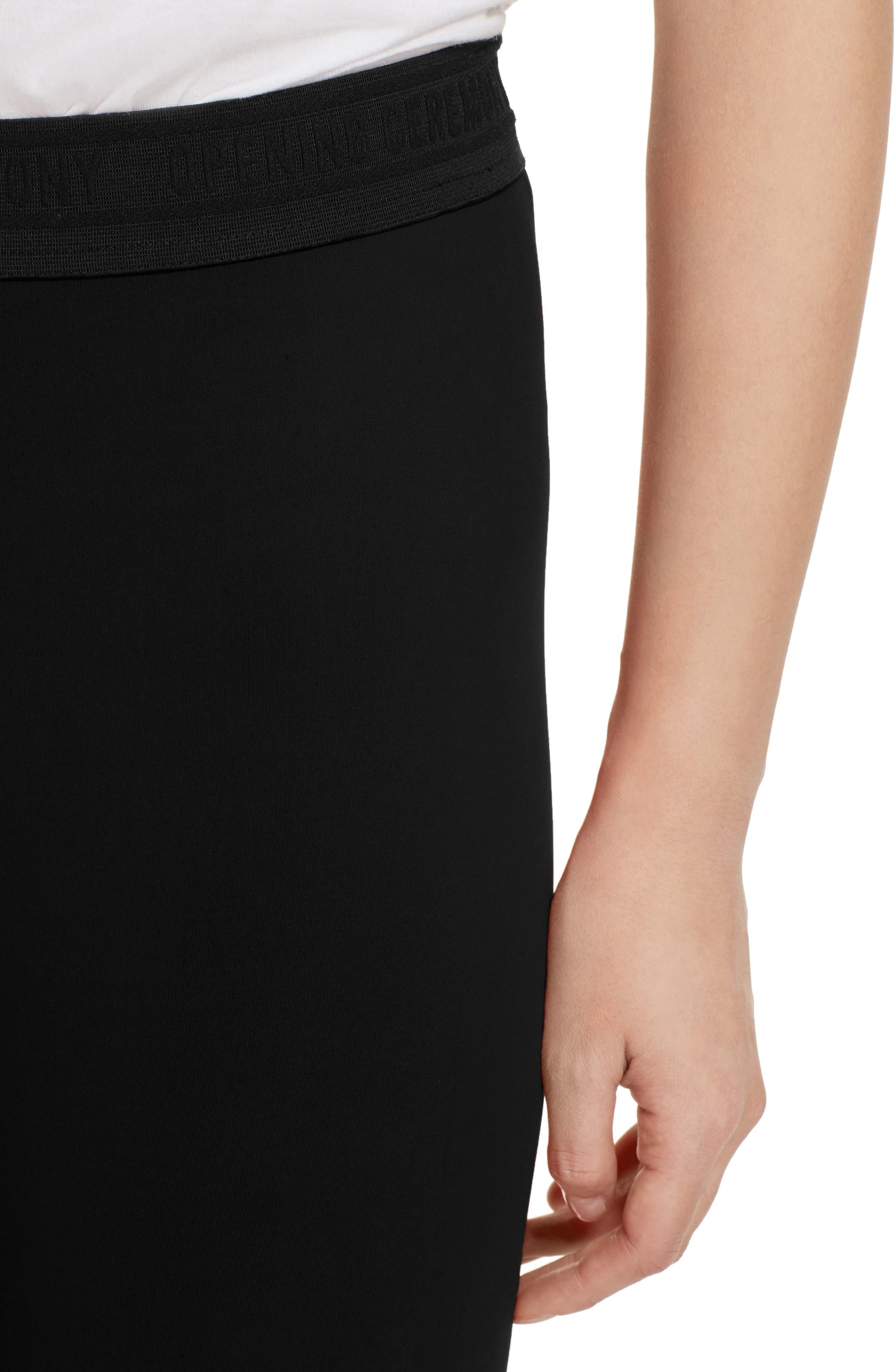Split Back Leggings,                             Alternate thumbnail 4, color,                             Black