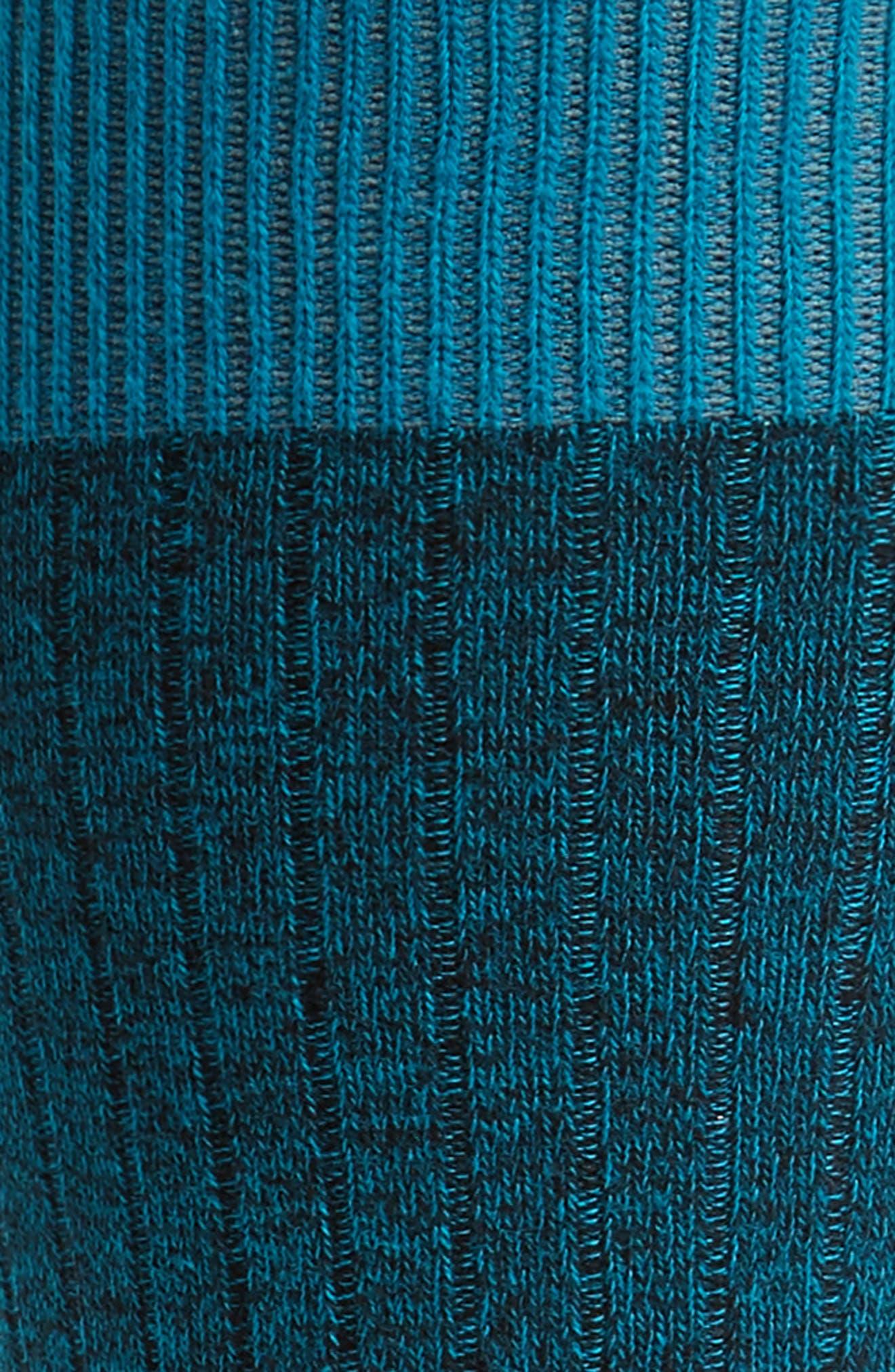 Polbray Ribbed Socks,                             Alternate thumbnail 2, color,                             Teal