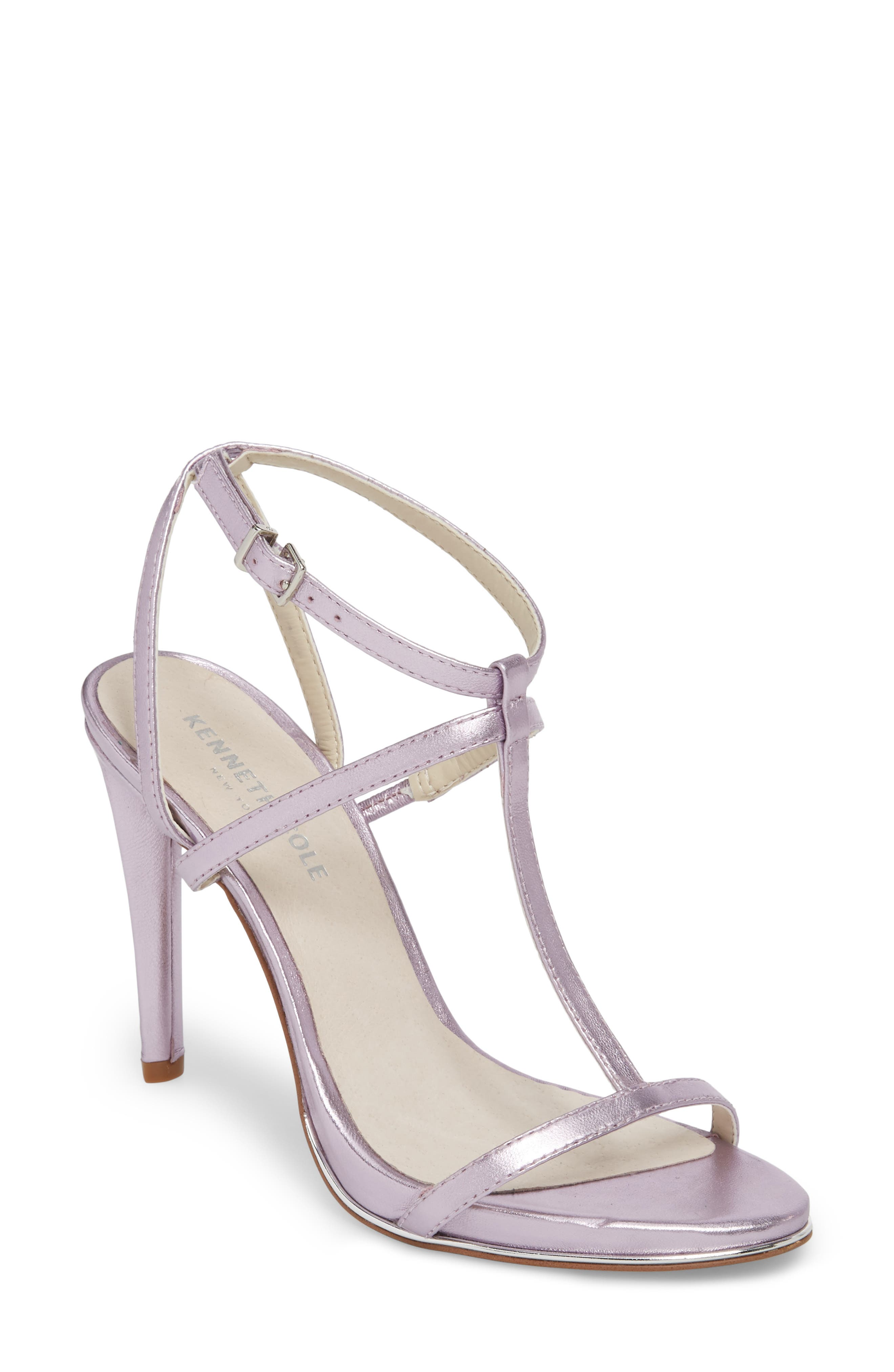 Bellamy Sandal,                         Main,                         color, Lavender Metallic Leather