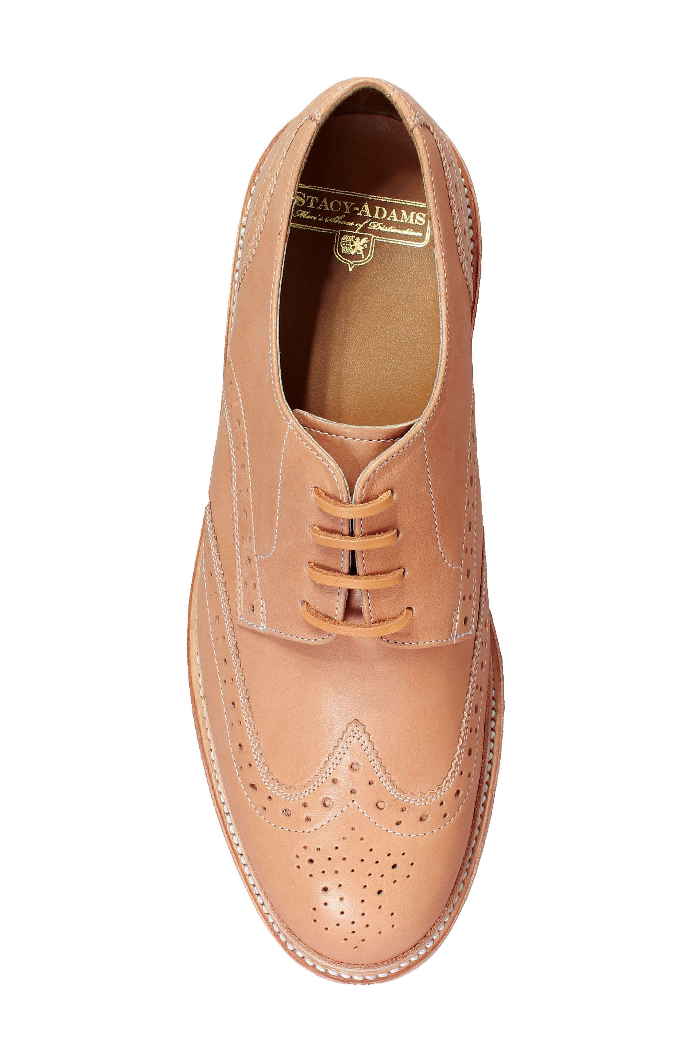 M2 Wingtip Derby,                             Alternate thumbnail 5, color,                             Natural Leather