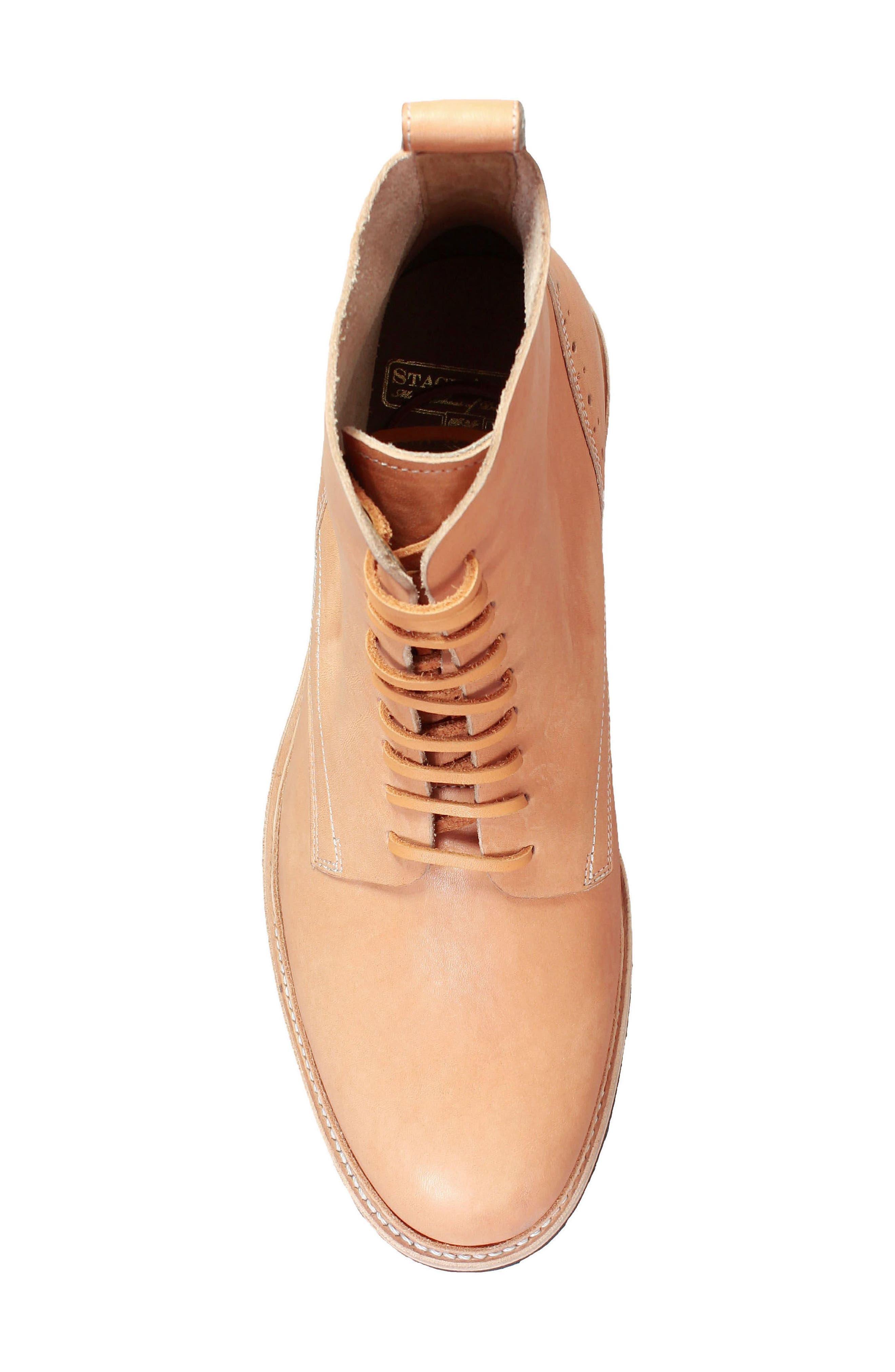 M2 Plain Toe Boot,                             Alternate thumbnail 5, color,                             Natural Leather