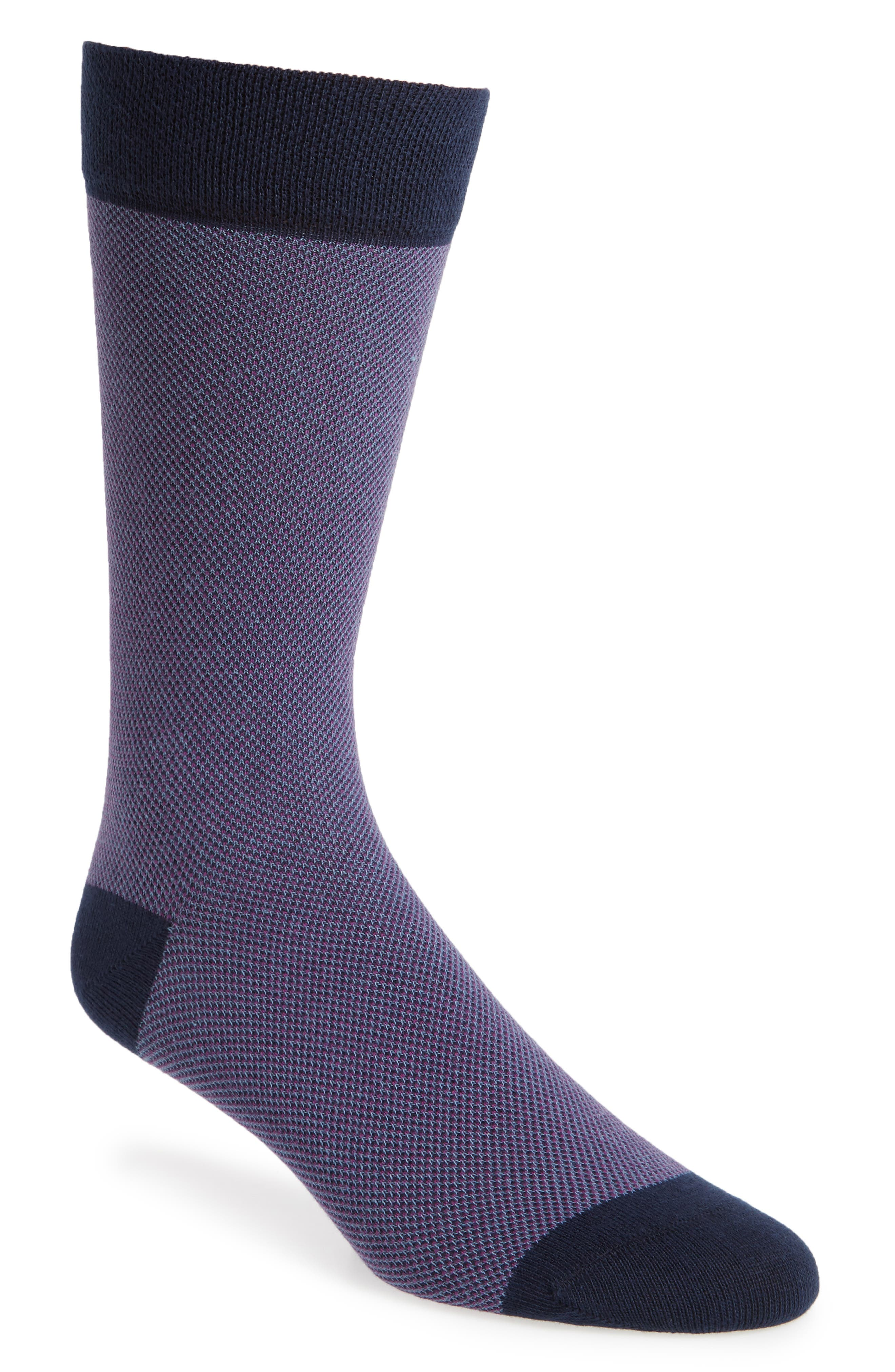 Joaquim Solid Socks,                         Main,                         color, Purple