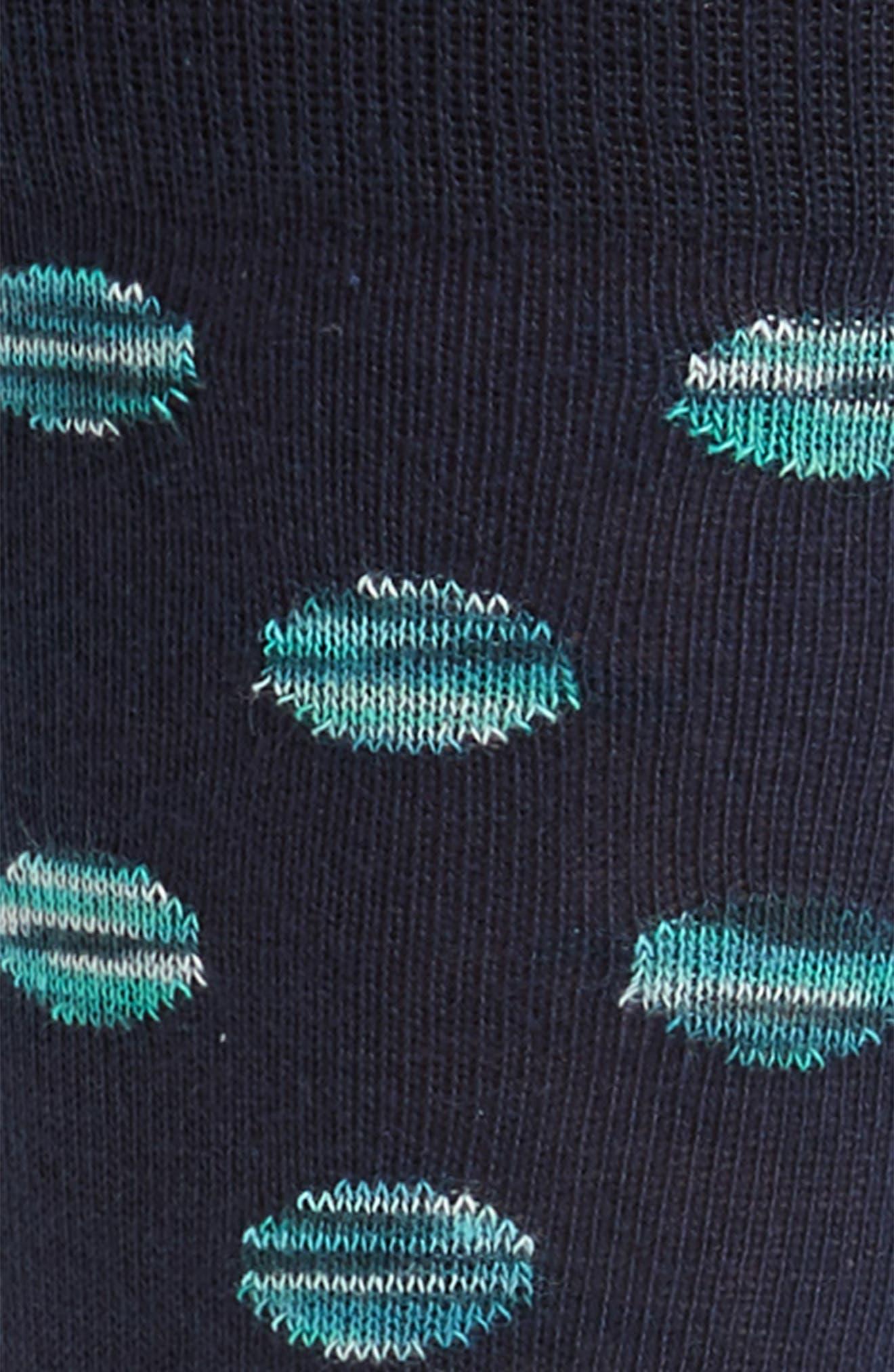 Dot Socks,                             Alternate thumbnail 2, color,                             Navy