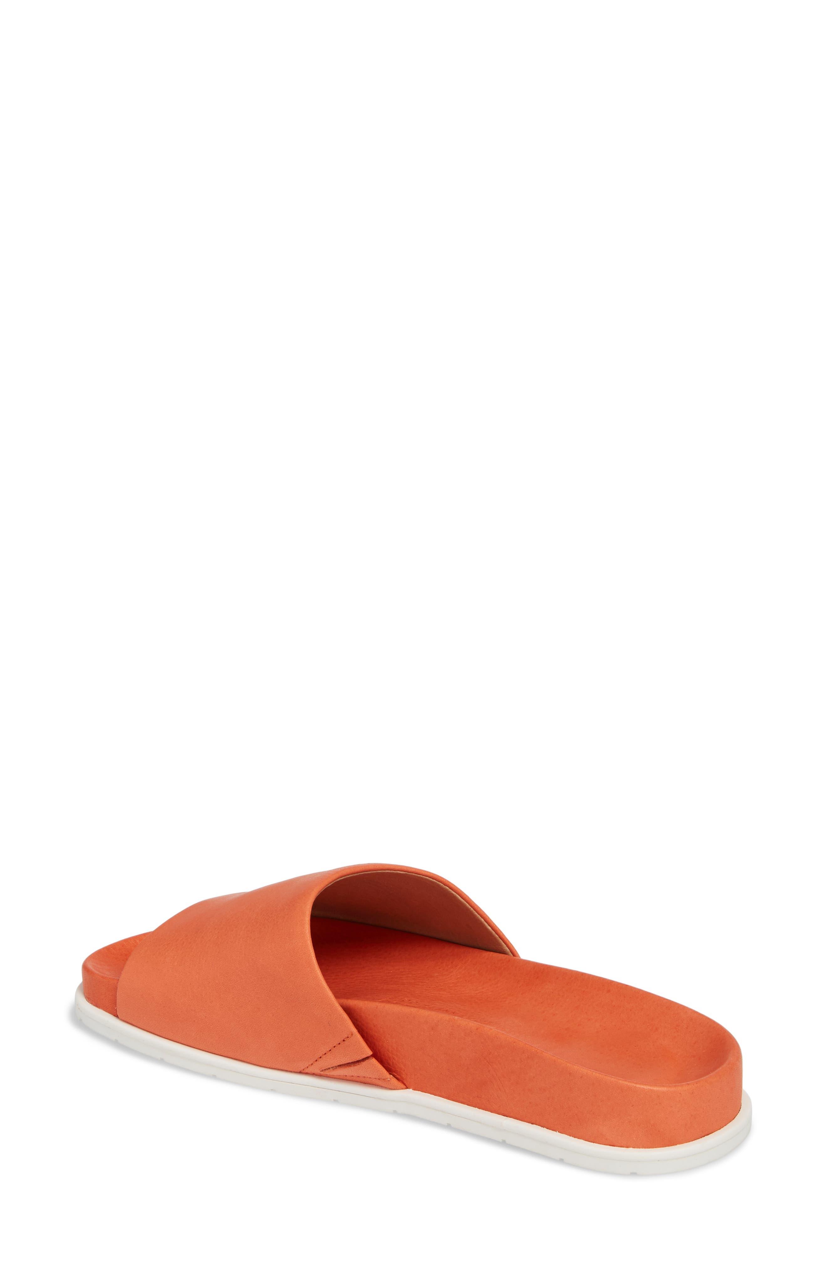 by Kenneth Cole Iona Slide Sandal,                             Alternate thumbnail 2, color,                             Orange Leather