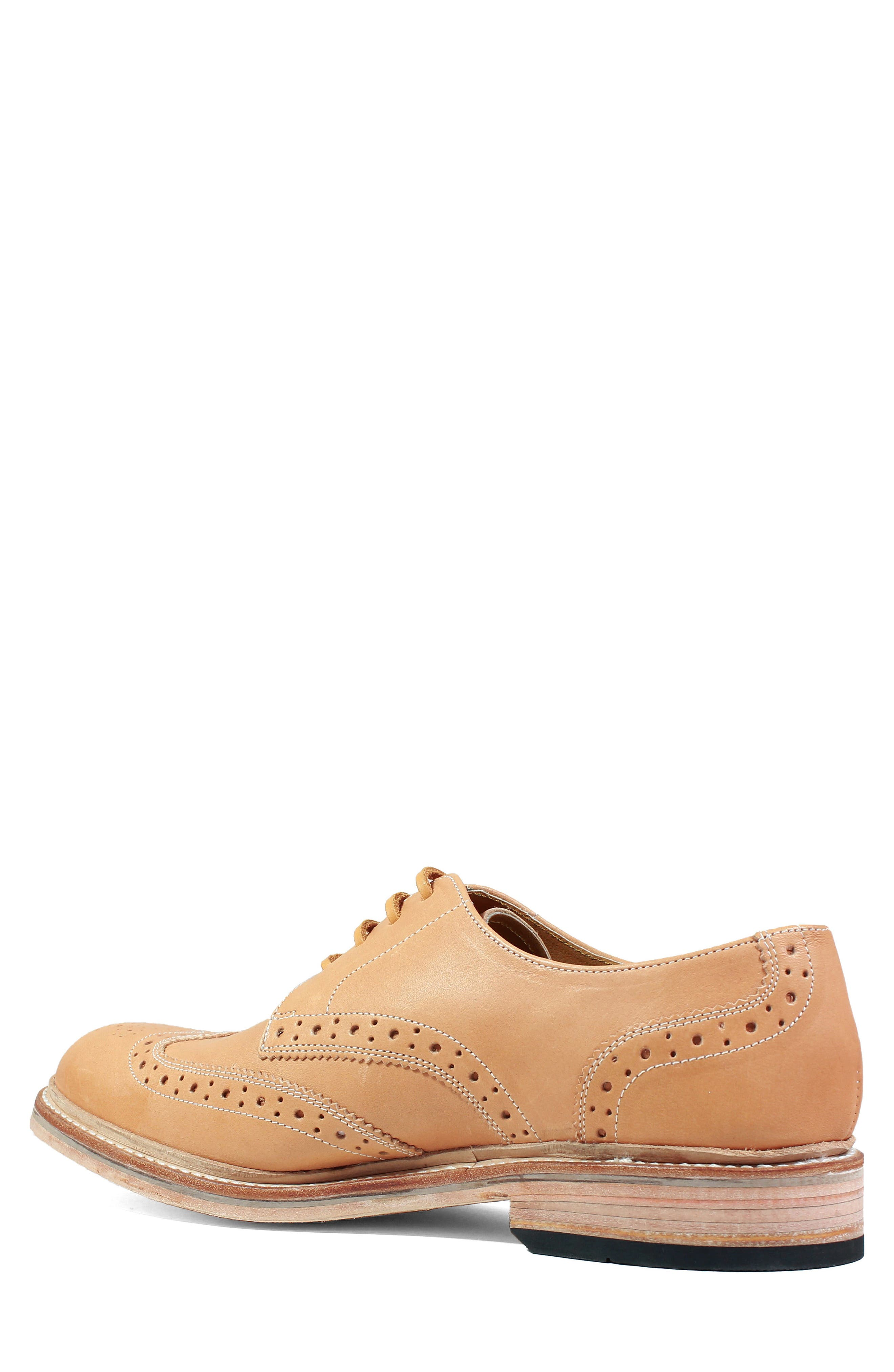 M2 Wingtip Derby,                             Alternate thumbnail 2, color,                             Natural Leather