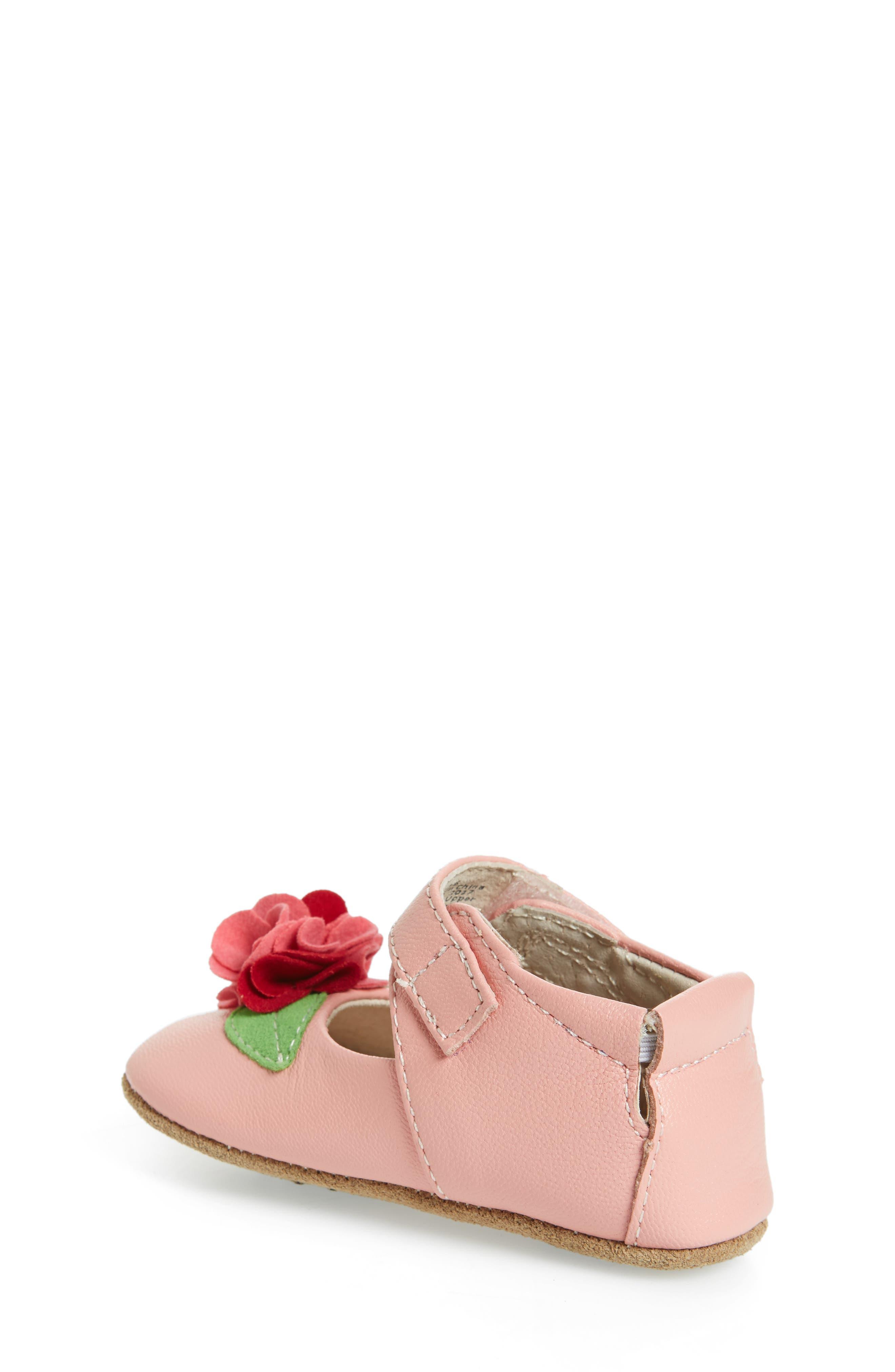 Rosa Mary Jane Crib Shoe,                             Alternate thumbnail 2, color,                             Light Pink
