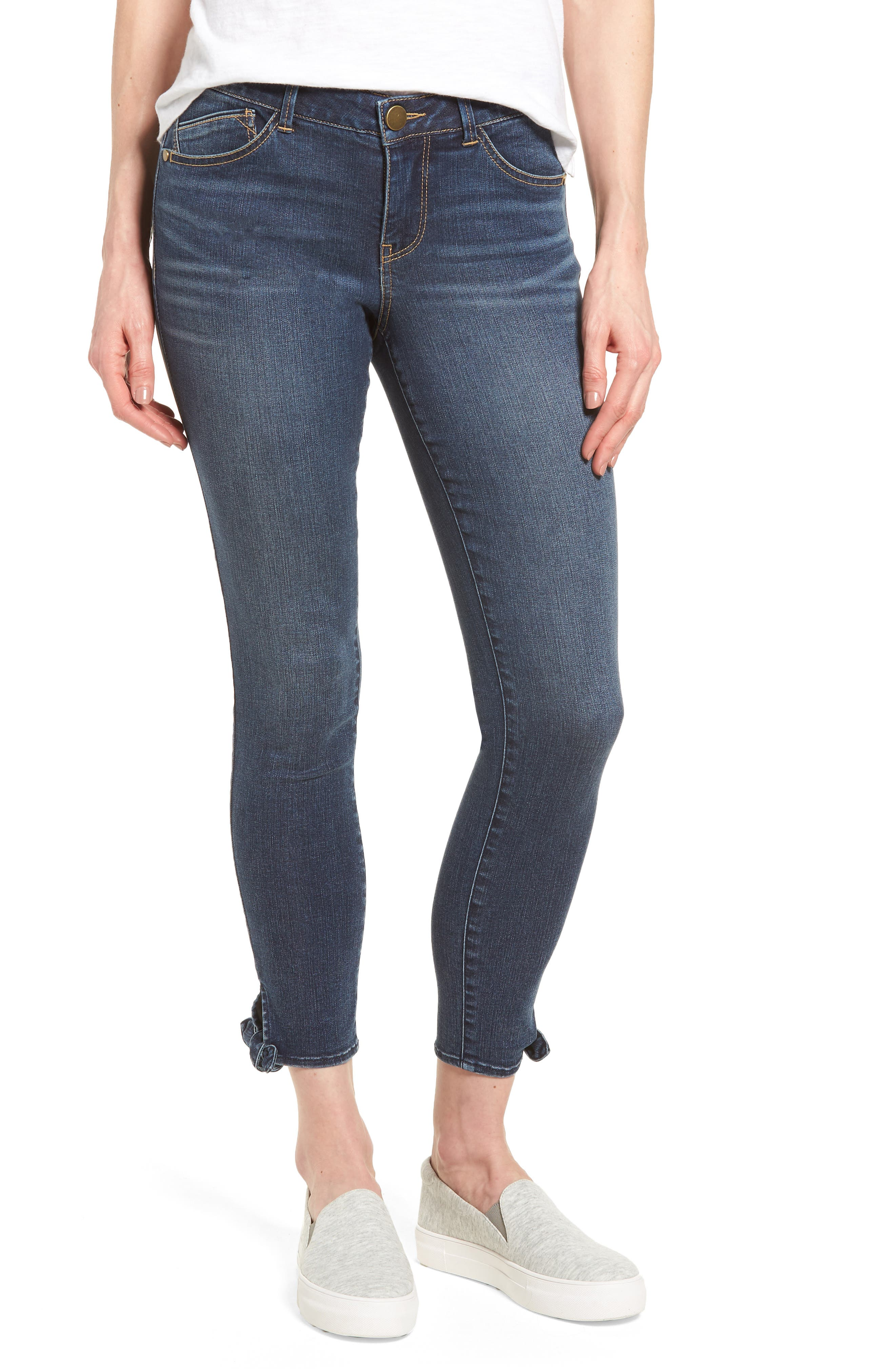 Ab-solution Ankle Skinny Skimmer Jeans,                             Main thumbnail 1, color,                             Bl- Blue