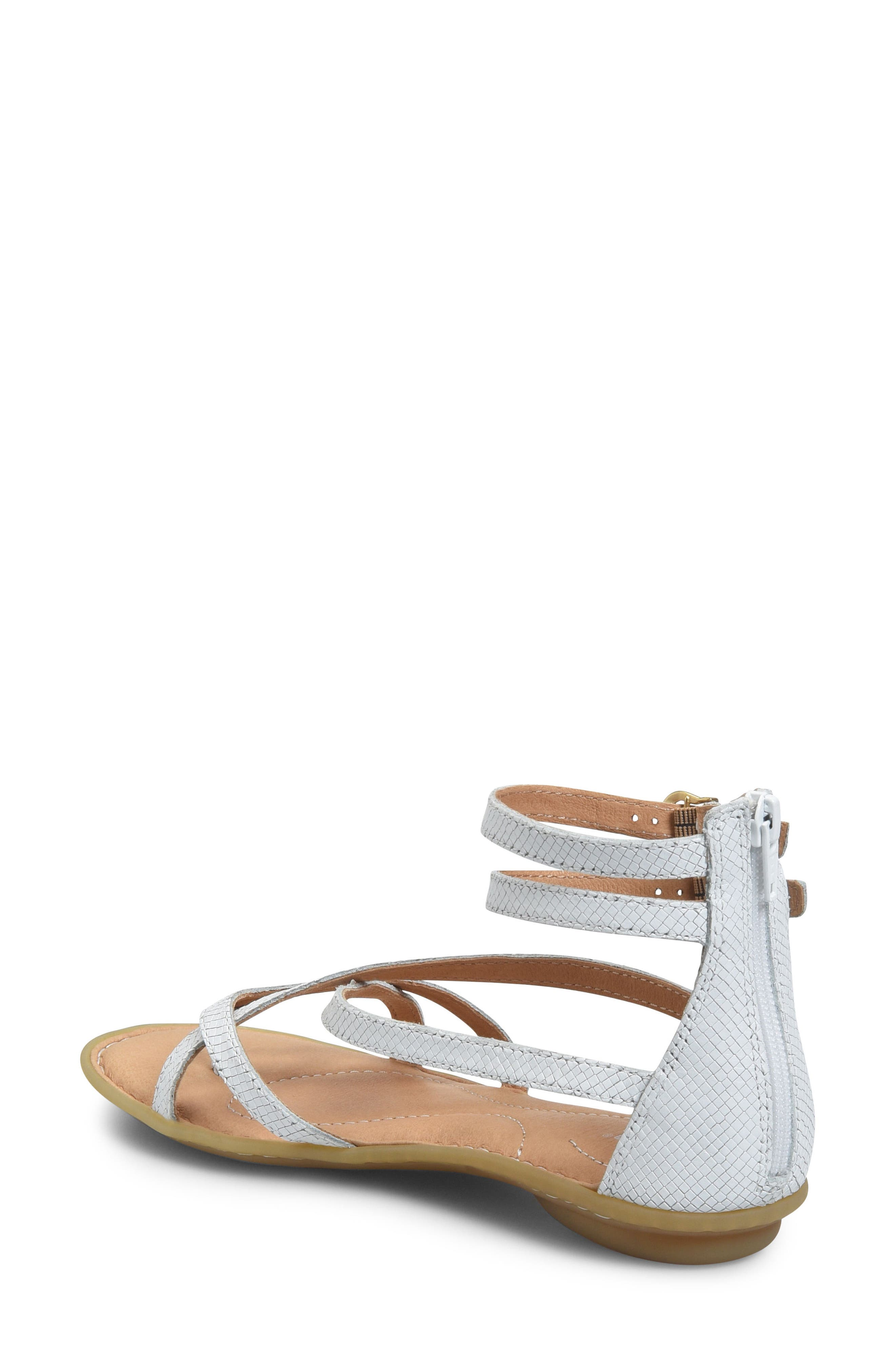 Mai Gladiator Sandal,                             Alternate thumbnail 2, color,                             White Leather