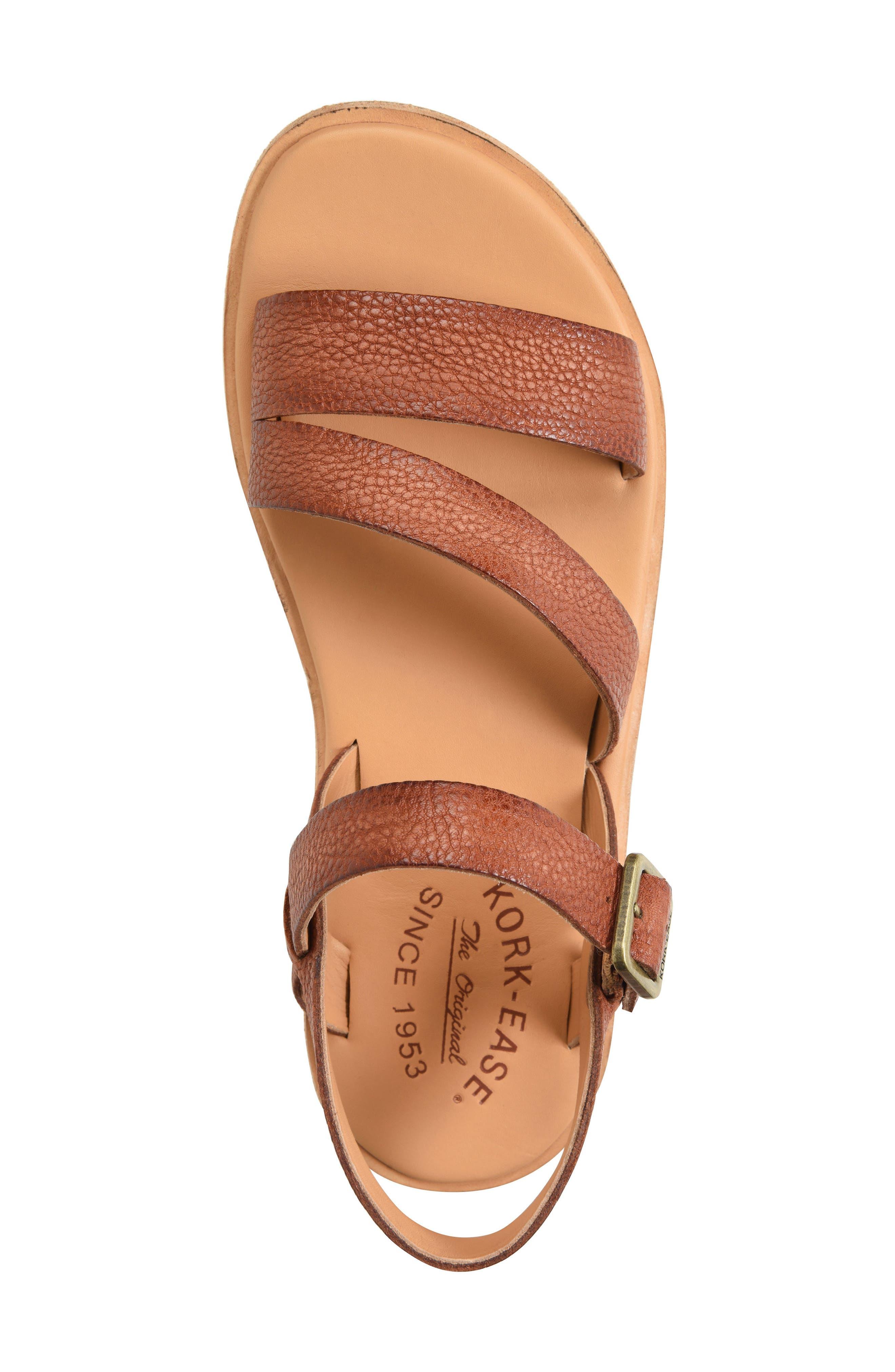 Nogales Sandal,                             Alternate thumbnail 5, color,                             Brown Leather