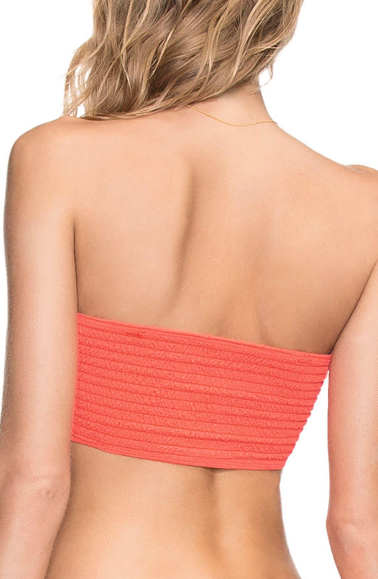 Dahlia Four Way Reversible Bandeau Bikini Top,                             Alternate thumbnail 2, color,                             Dahlia