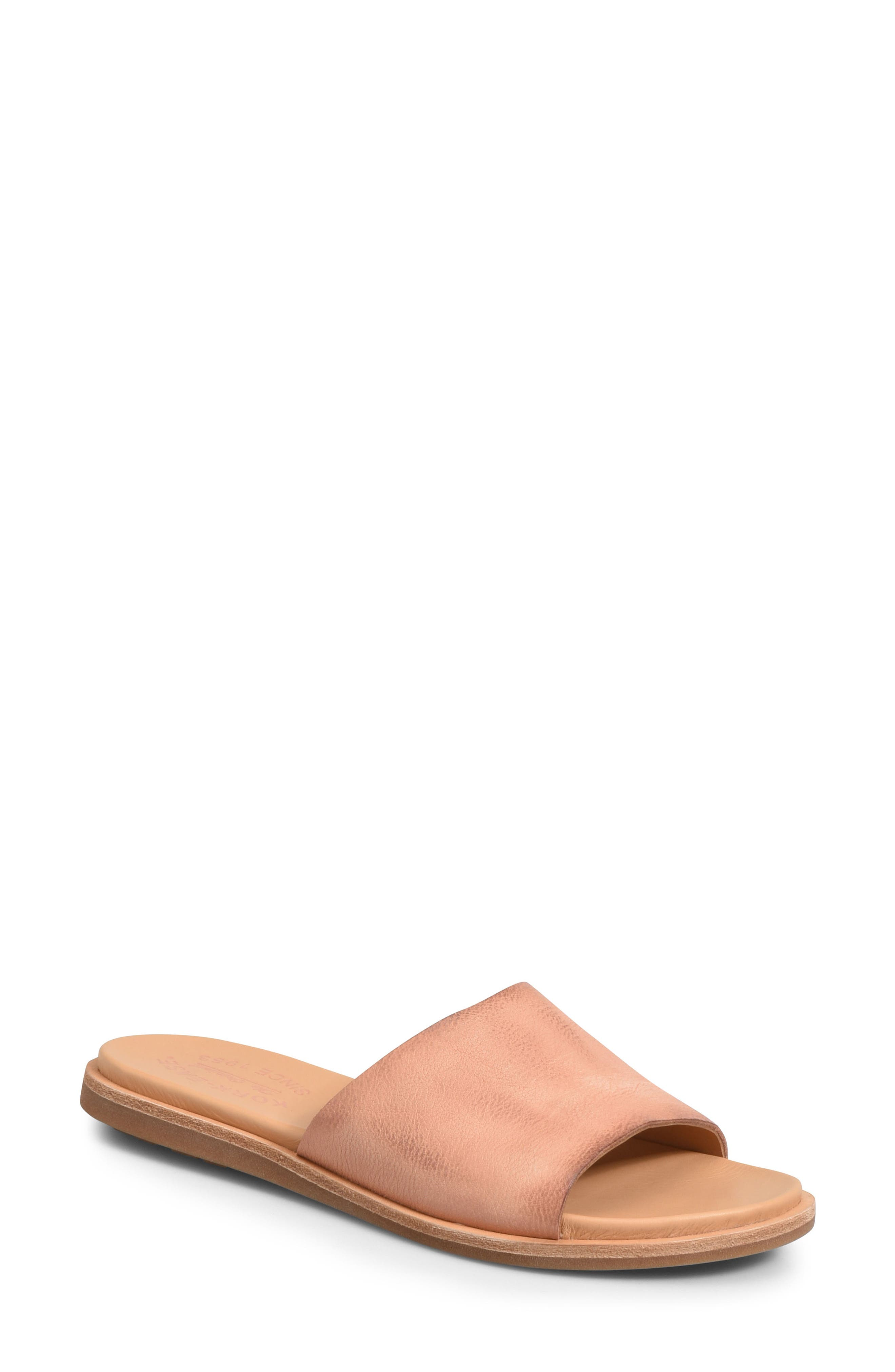 Gila Slide Sandal,                         Main,                         color, Blush Leather