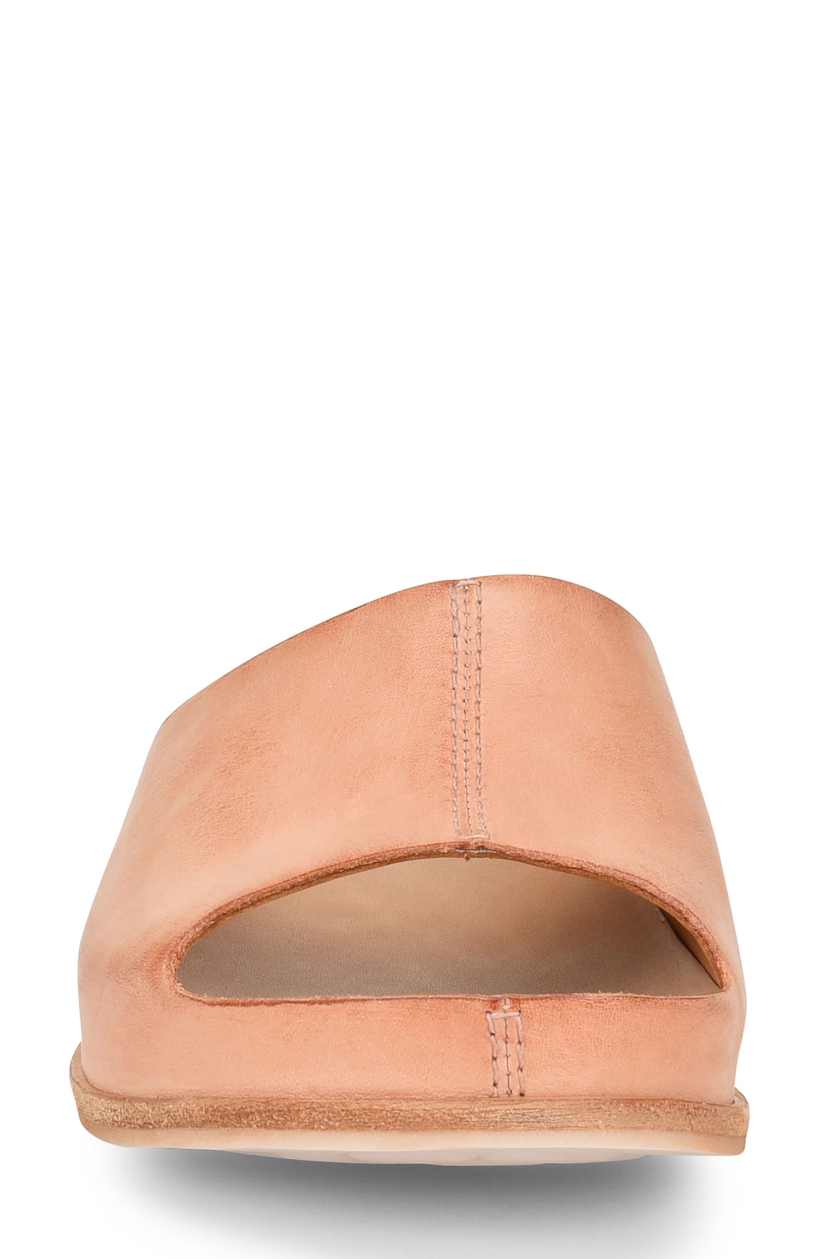 'Tutsi' Slide Sandal,                             Alternate thumbnail 4, color,                             Blush Leather