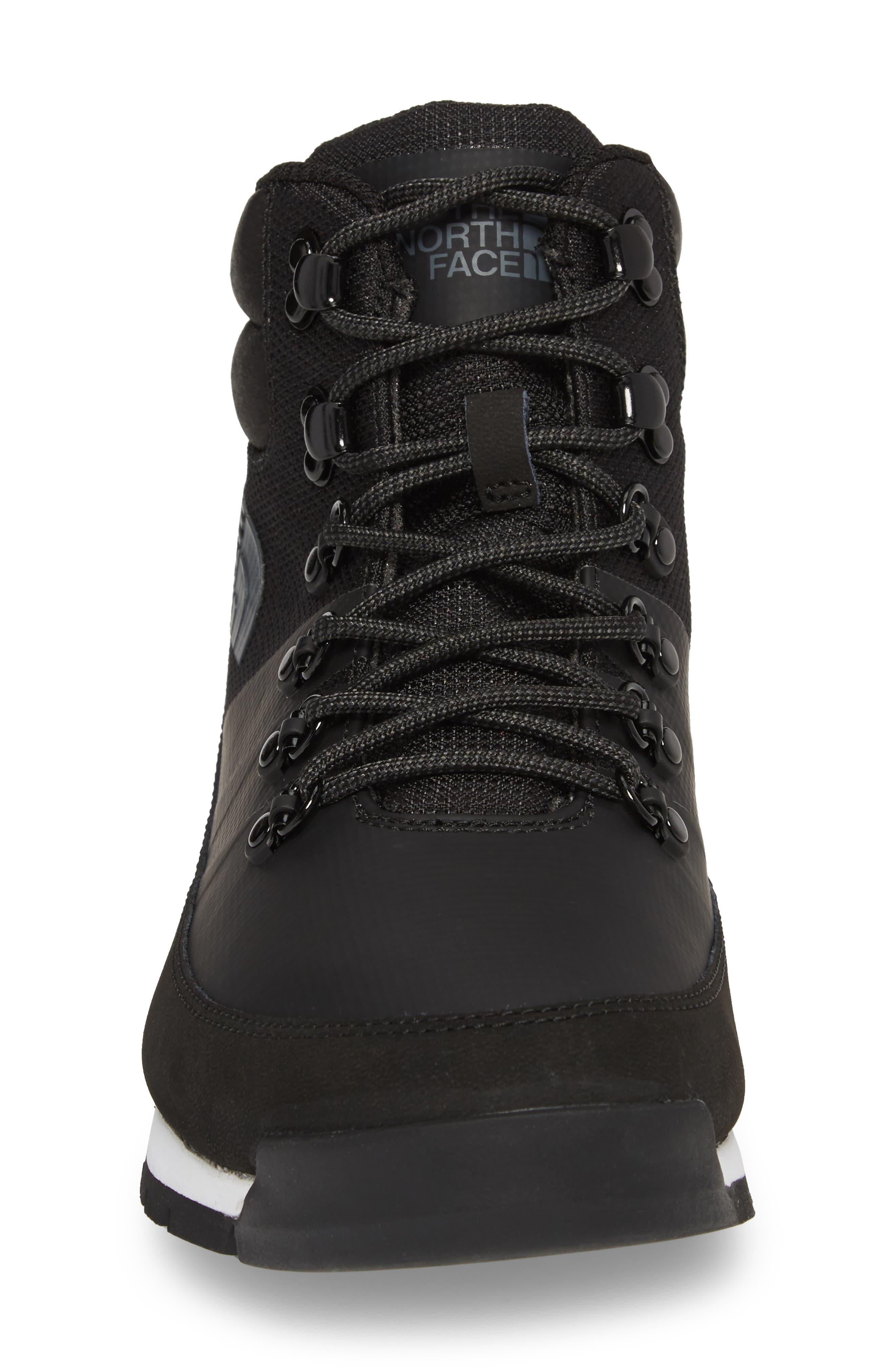 Back to Berkeley Mid AM Sneaker Boot,                             Alternate thumbnail 4, color,                             Tnf Black/ Tnf Black