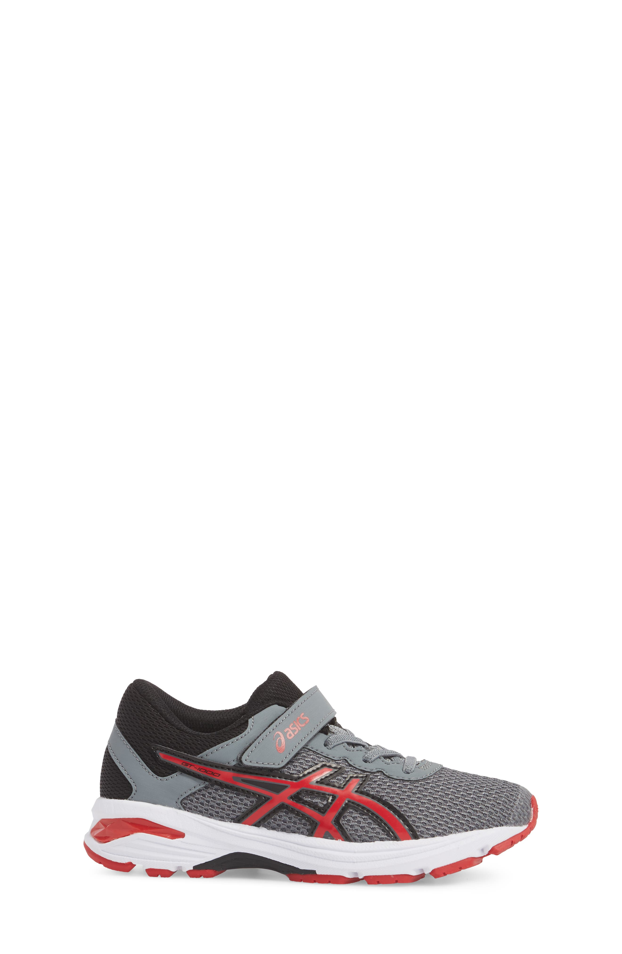 Asics GT-1000<sup>™</sup> 6 PS Sneaker,                             Alternate thumbnail 3, color,                             Stone Grey/ Classic Red/ Black