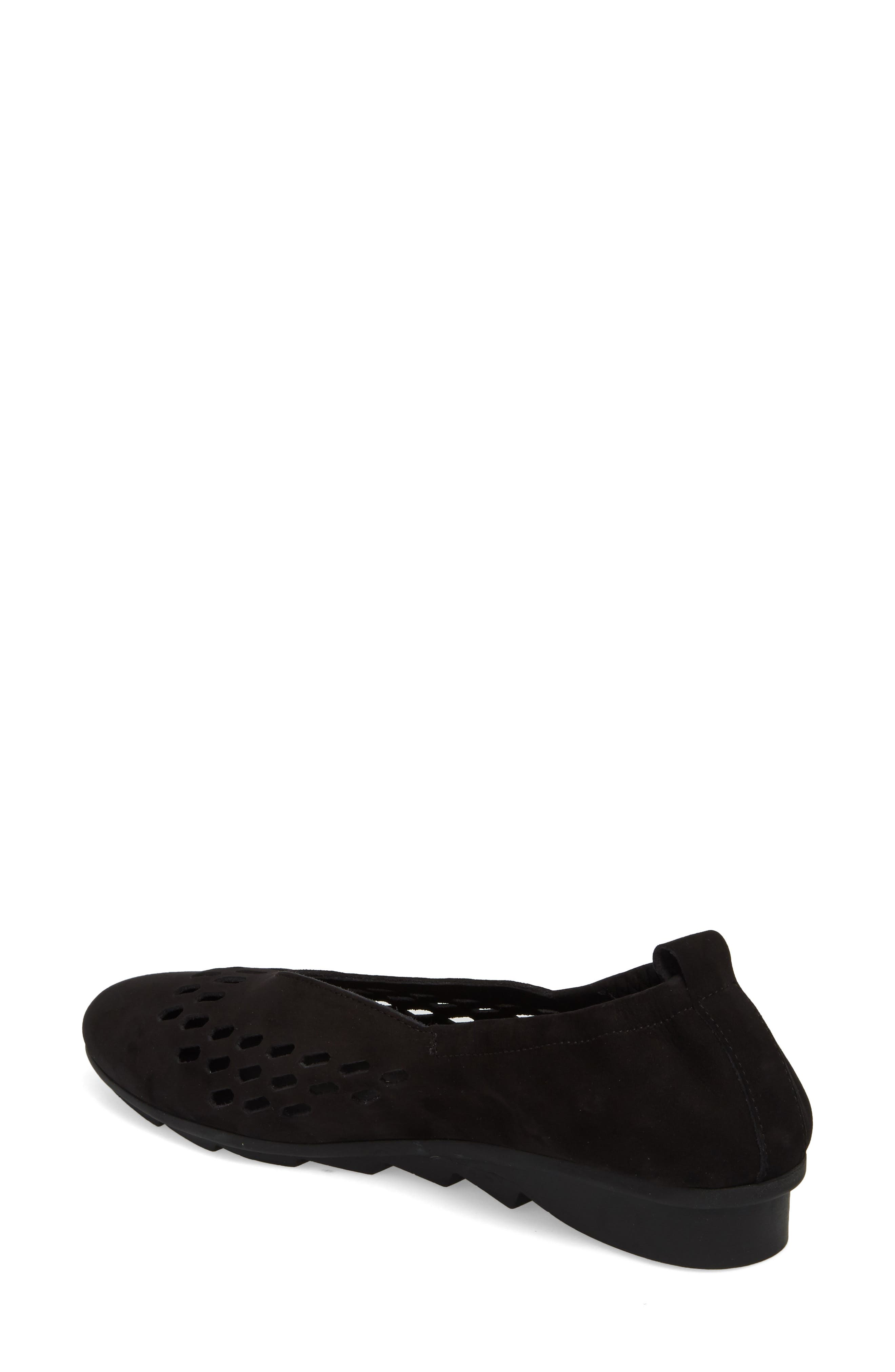 Bibiza Flat,                             Alternate thumbnail 2, color,                             Noir Nubuck Leather