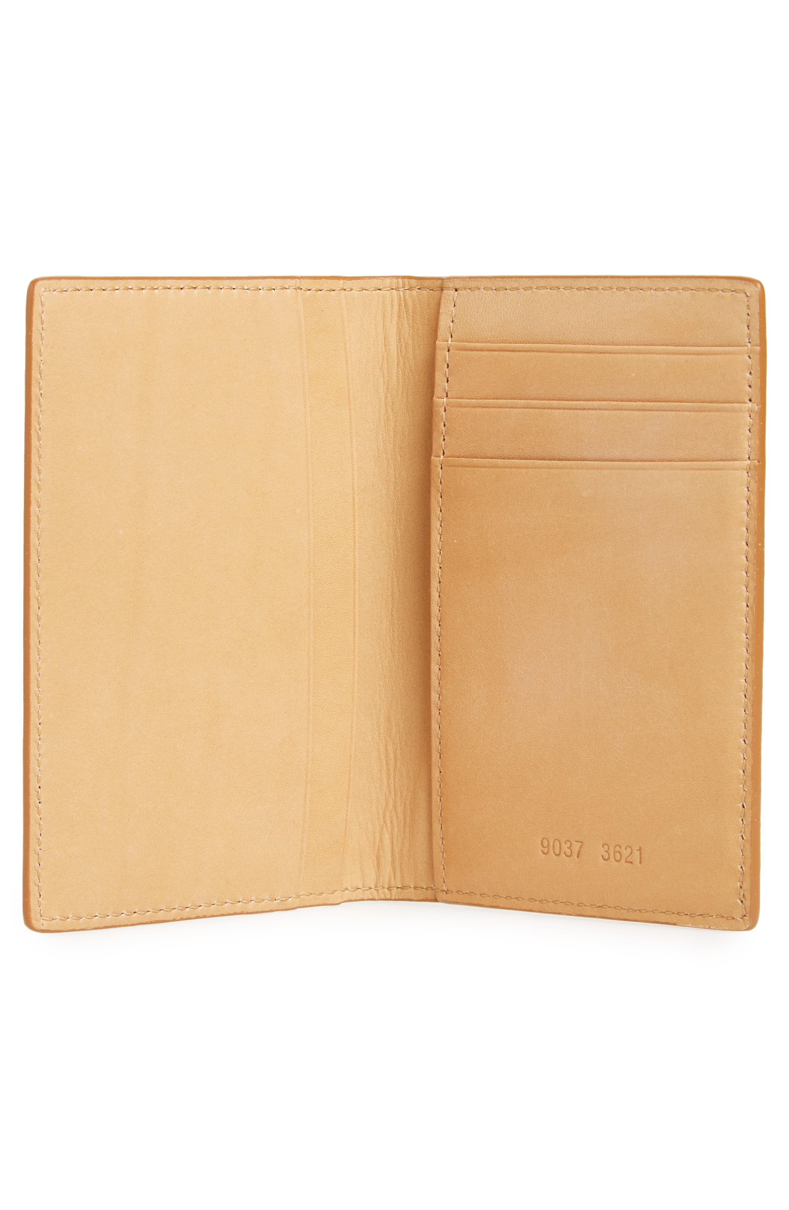 Saffiano Leather Folio Wallet,                             Alternate thumbnail 2, color,                             Brown