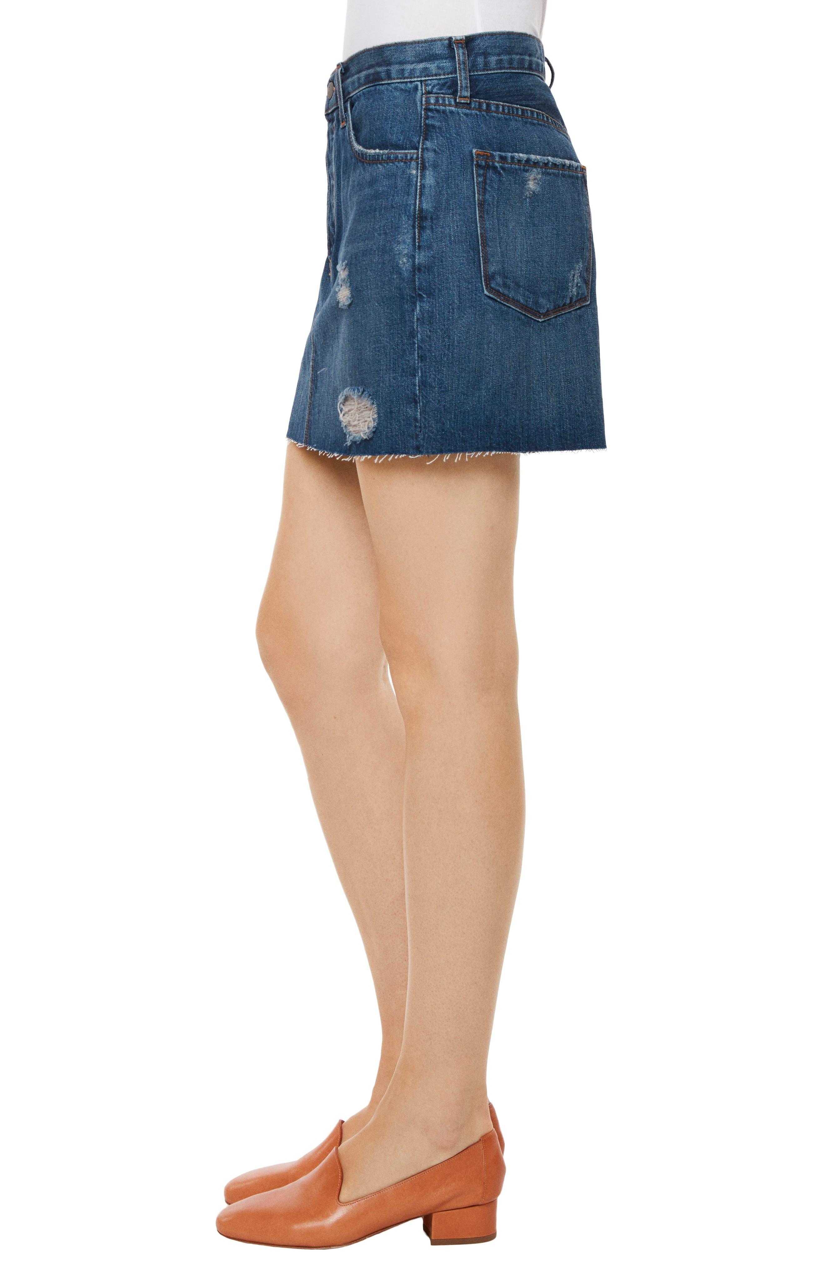 Alternate Image 3  - J Brand Bonny Mid Rise Denim Miniskirt