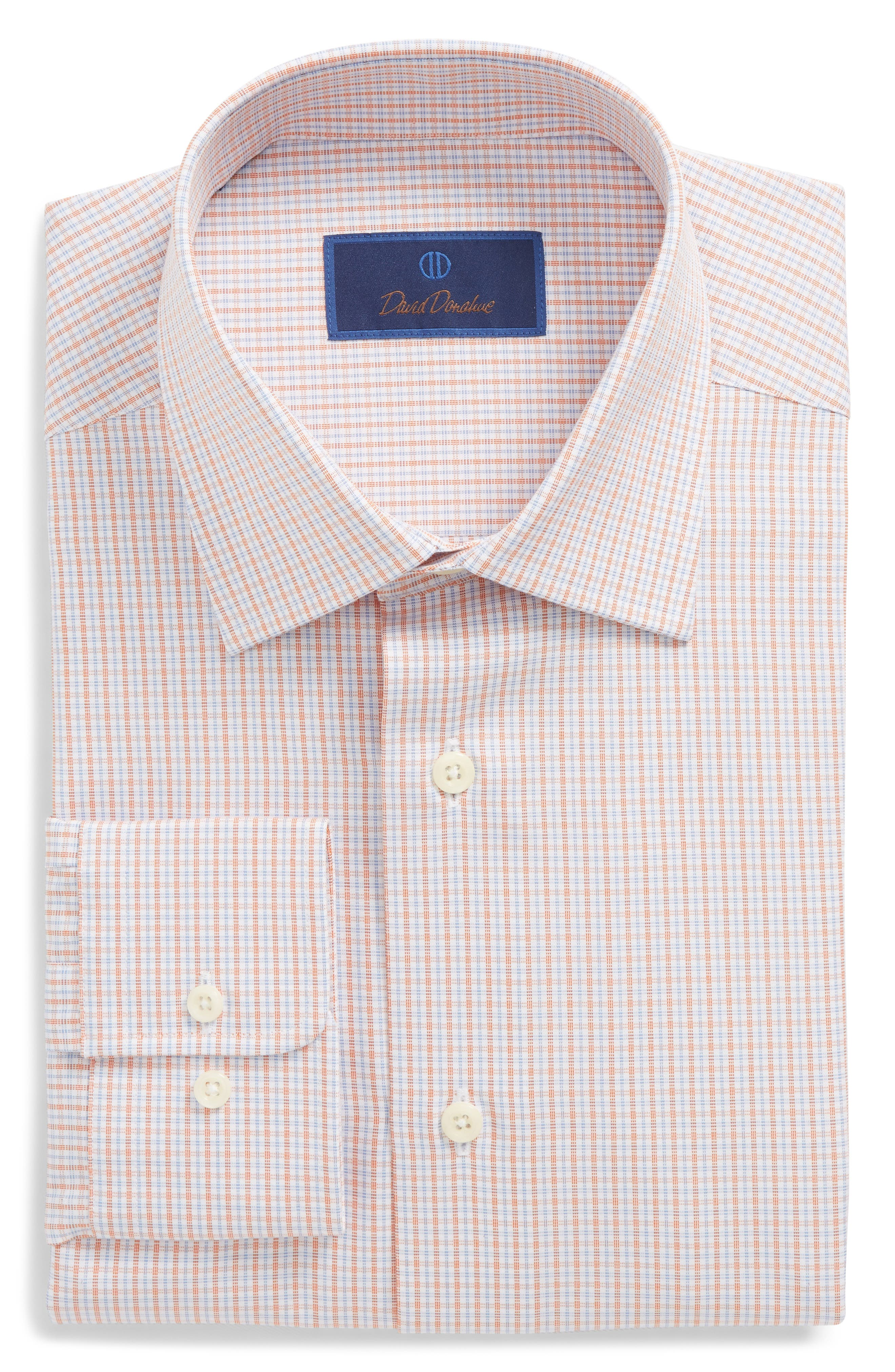 Regular Fit Check Dress Shirt,                         Main,                         color, Melon