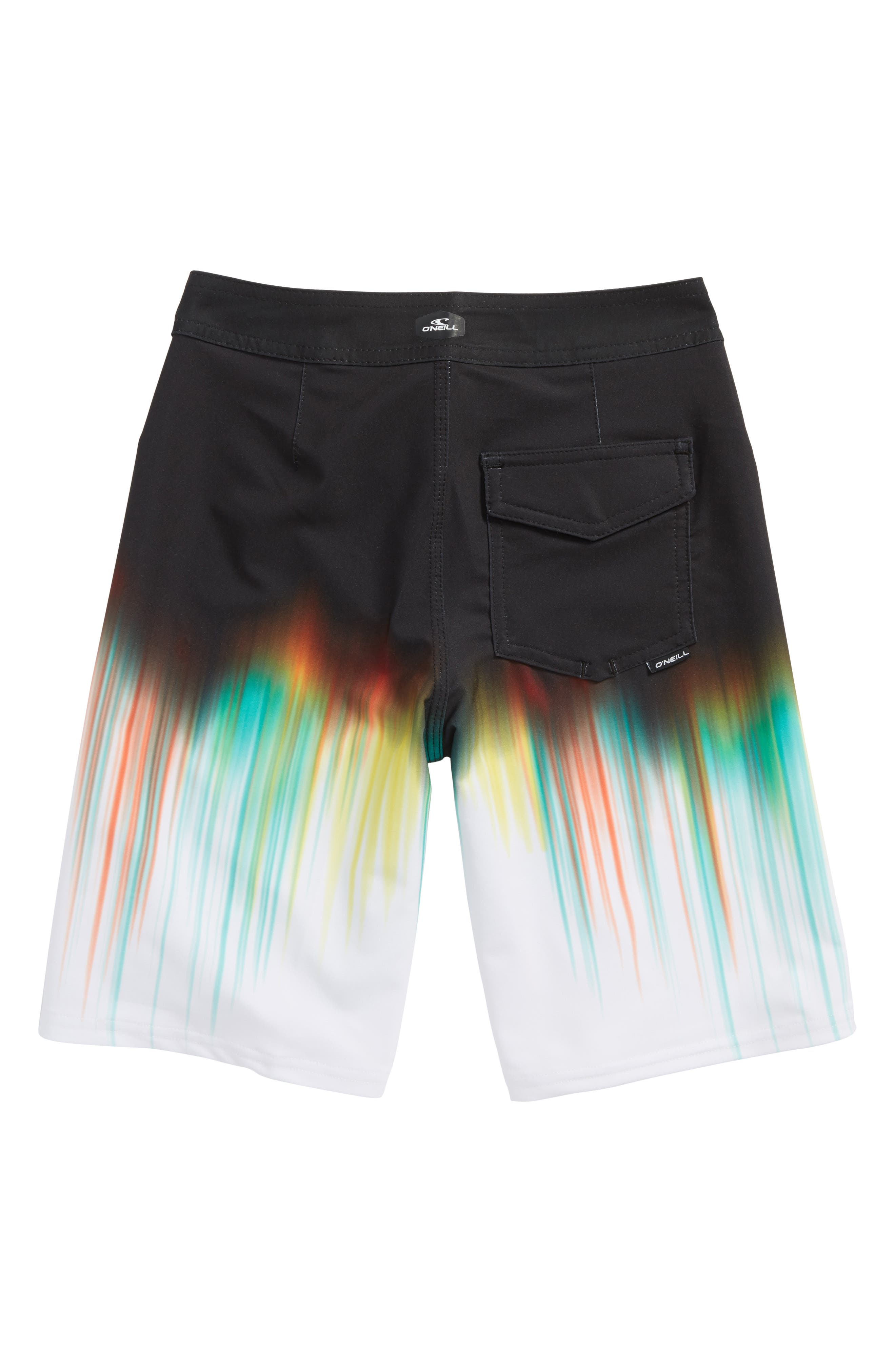 Hyperfreak Drippin Board Shorts,                             Alternate thumbnail 2, color,                             Black