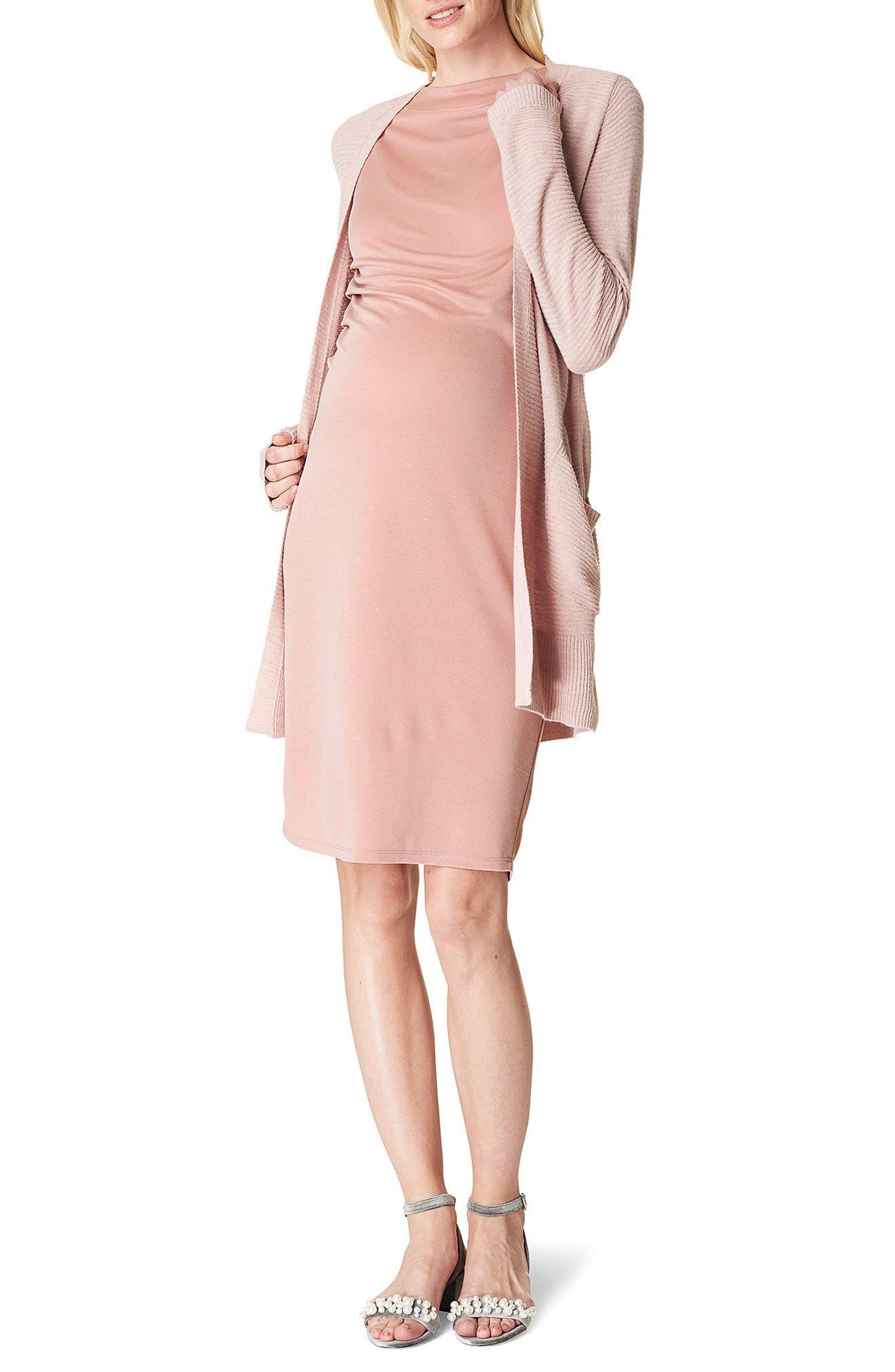 Annefleur Maternity Sheath Dress,                         Main,                         color, Blush