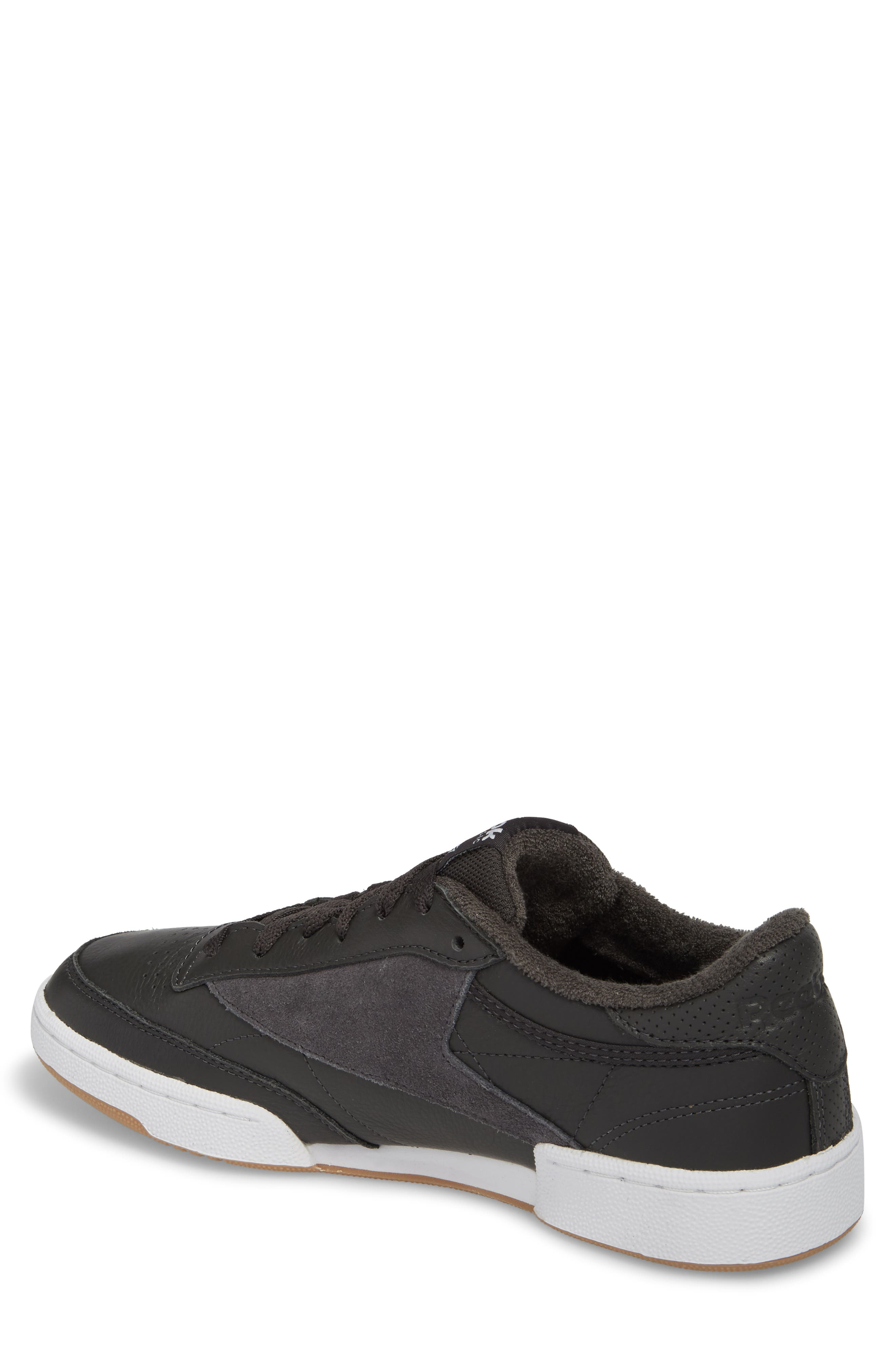 Club C 85 ESTL Sneaker,                             Alternate thumbnail 2, color,                             Coal/ White/ Washed Blue