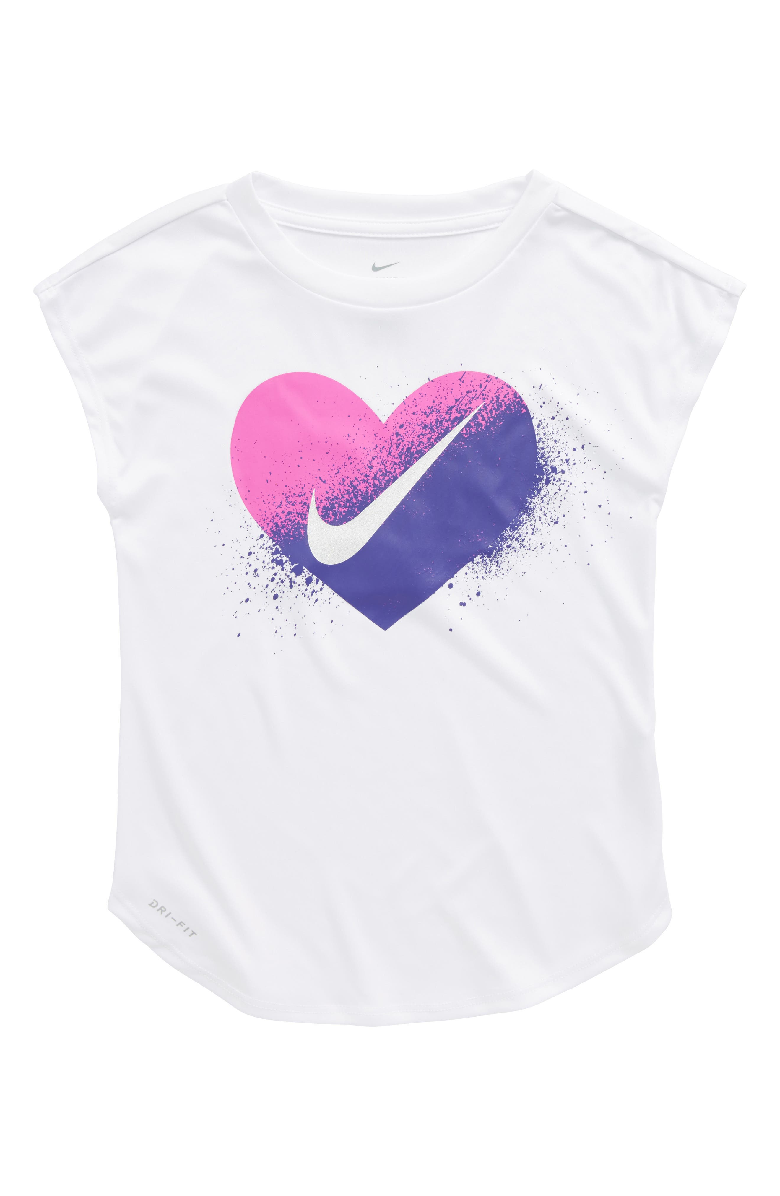 Spray Heart Dry Graphic Tee,                         Main,                         color, White