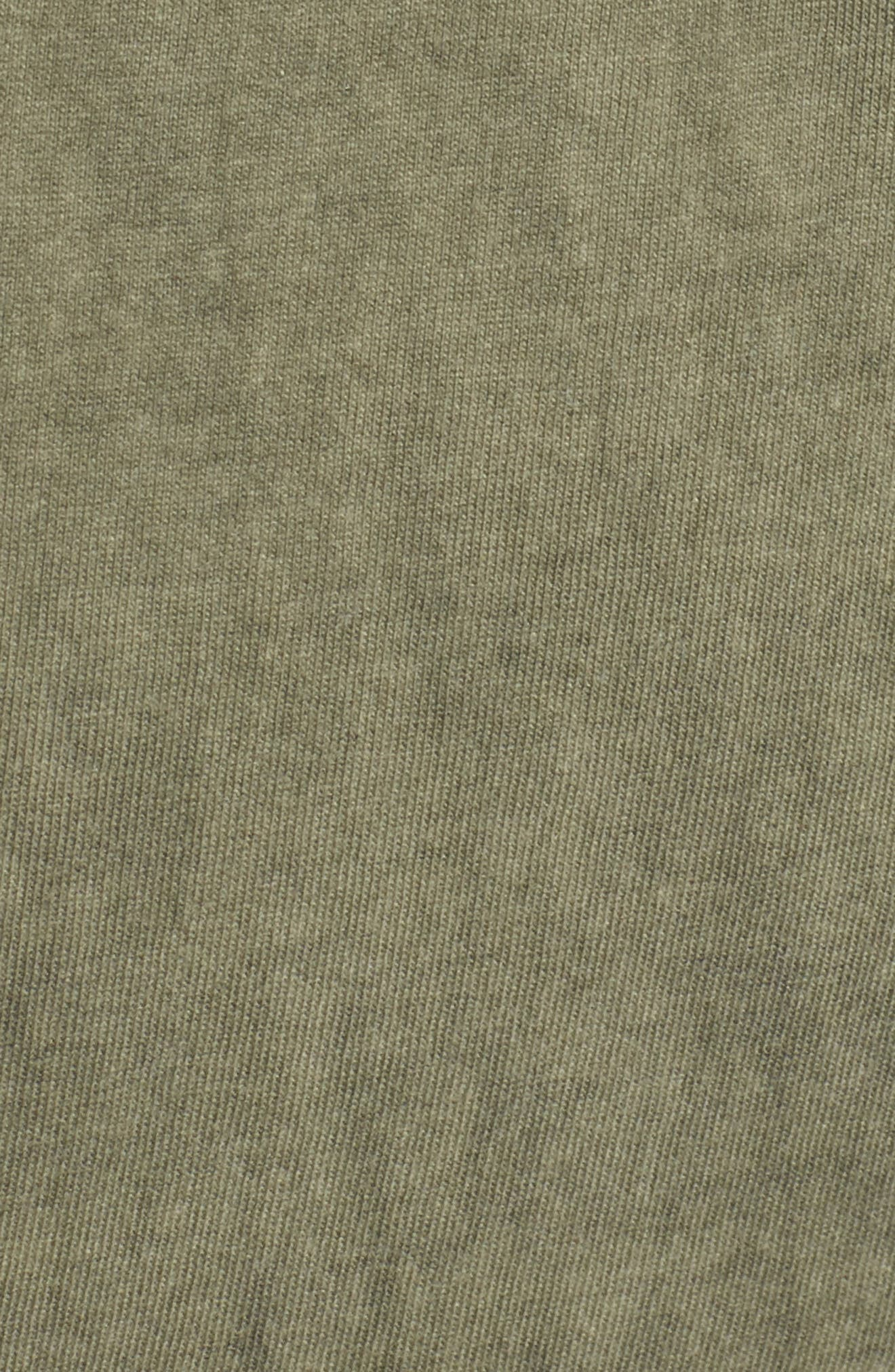Scoop Neck Body-Con Dress,                             Alternate thumbnail 5, color,                             Olive Smoke