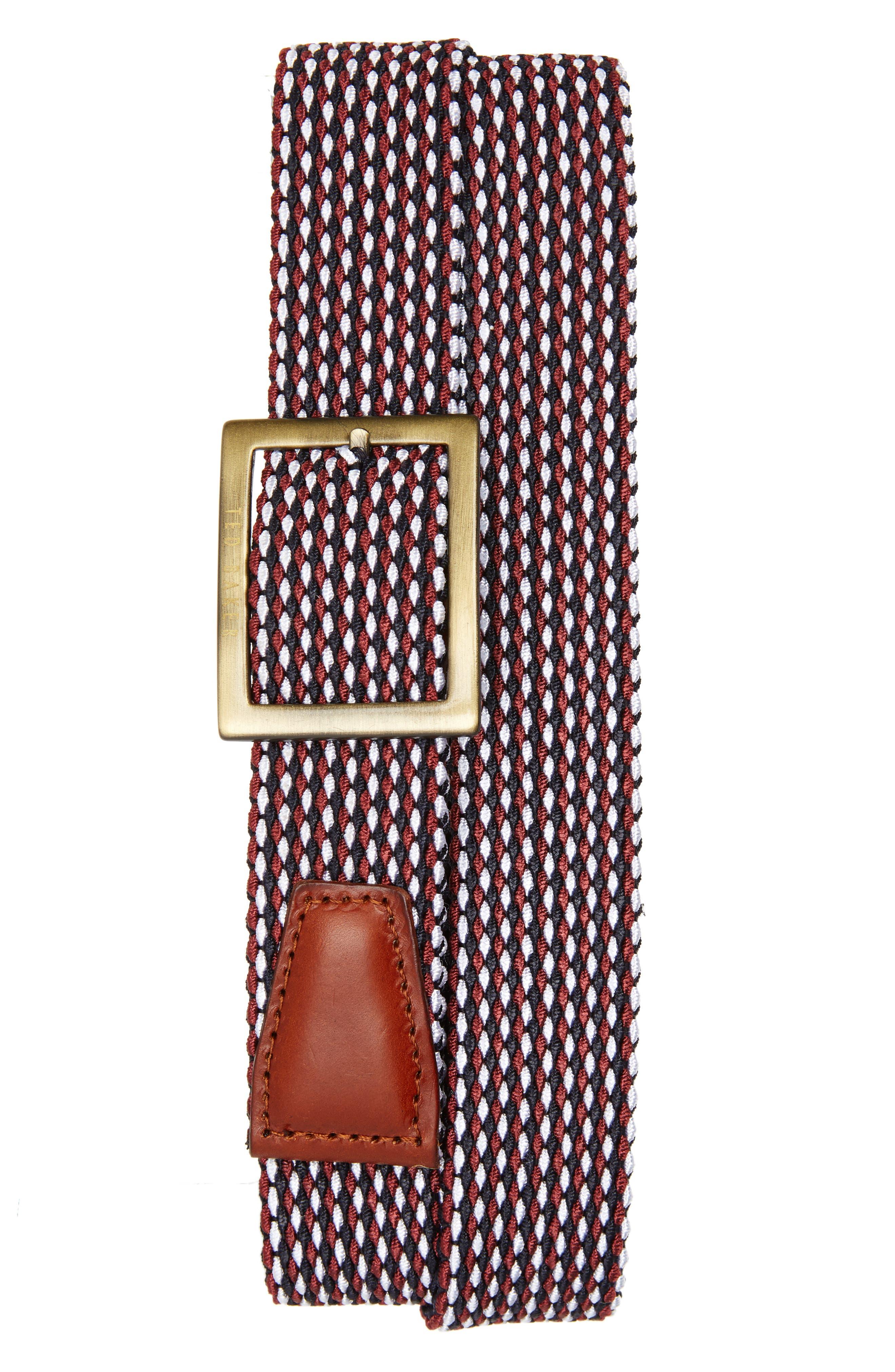 Jayper Woven Belt,                         Main,                         color, Navy