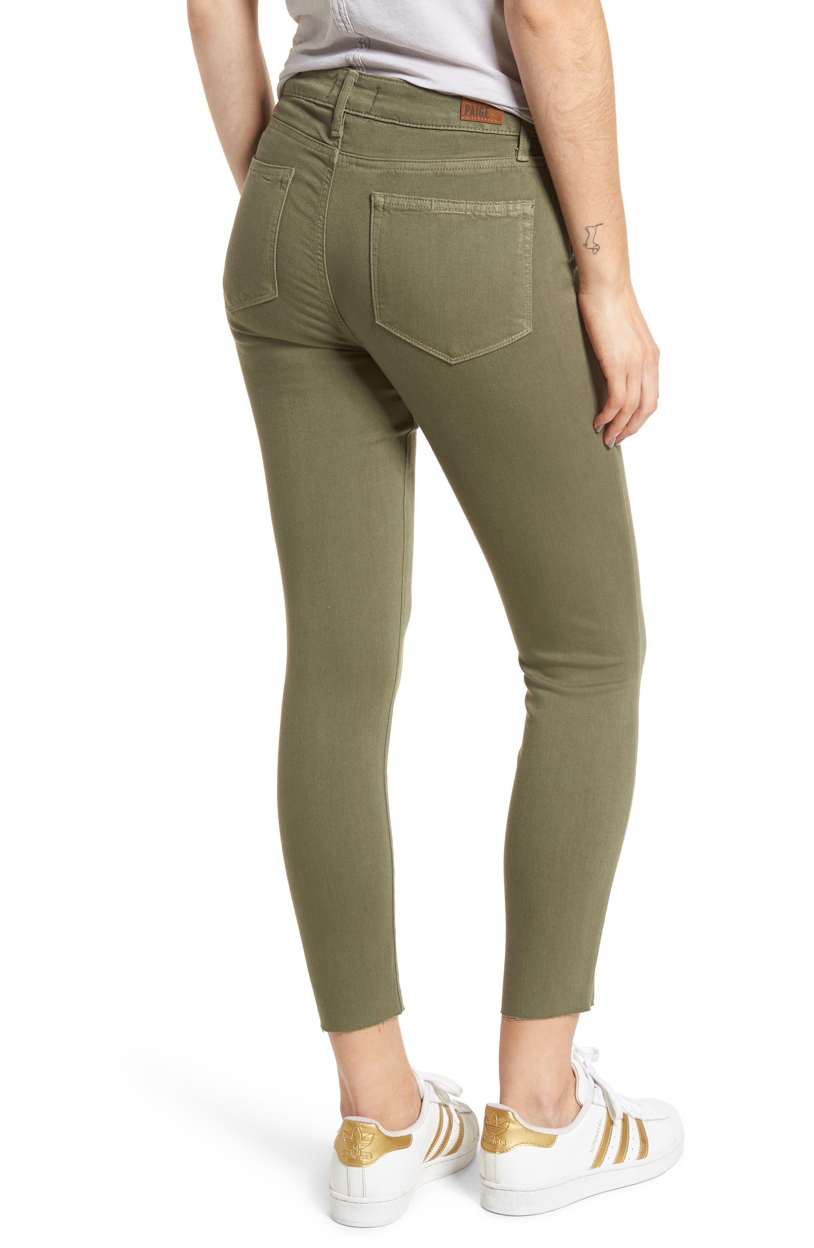 Hoxton High Waist Crop Skinny Jeans,                             Alternate thumbnail 2, color,                             Vintage Green