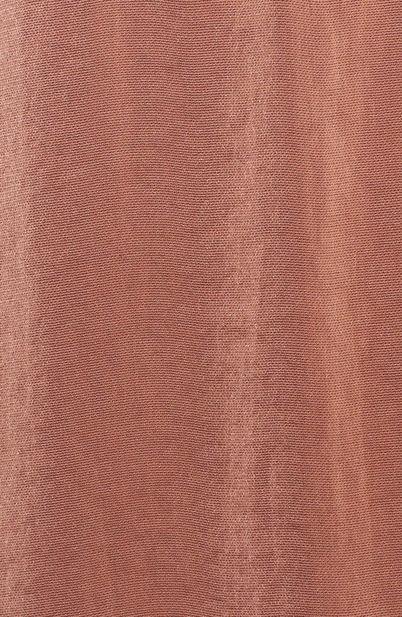 Ali Satin Jumpsuit,                             Alternate thumbnail 5, color,                             Terracotta