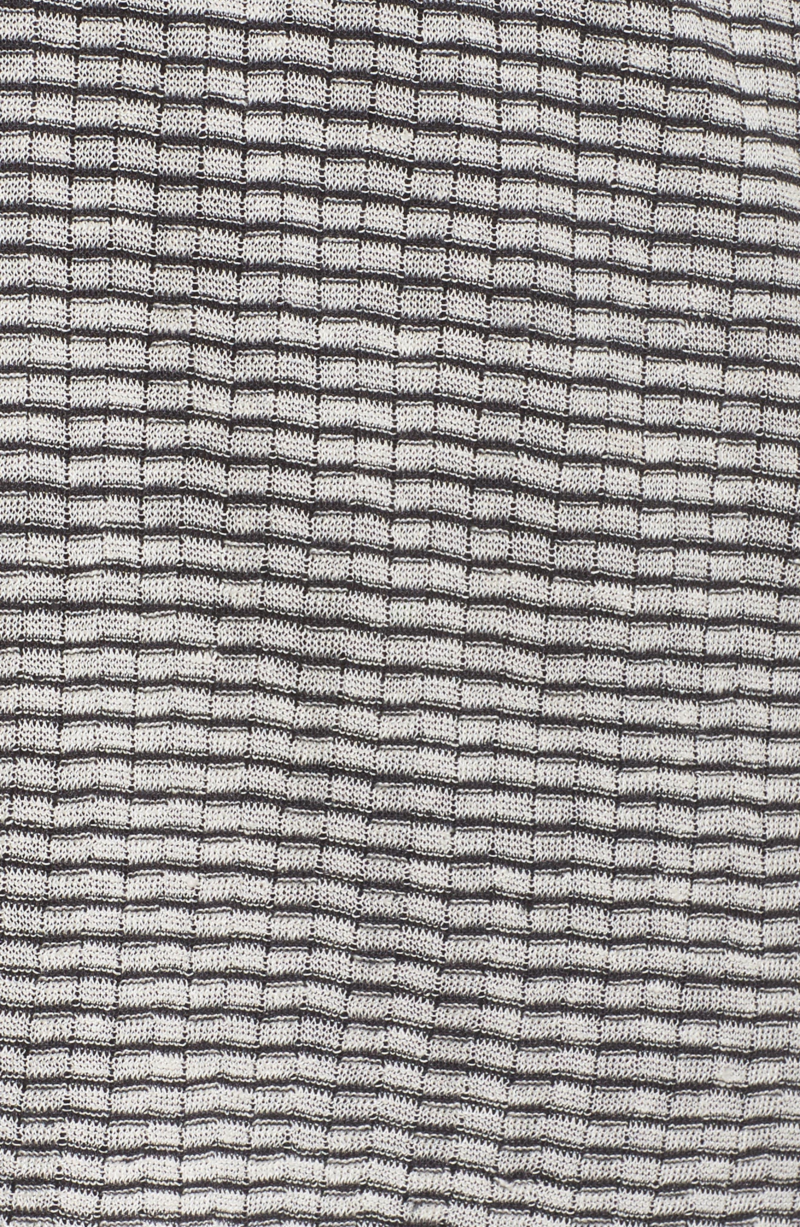Simple Stripe Linen Blend Cardigan,                             Alternate thumbnail 5, color,                             Graphite/ Bone