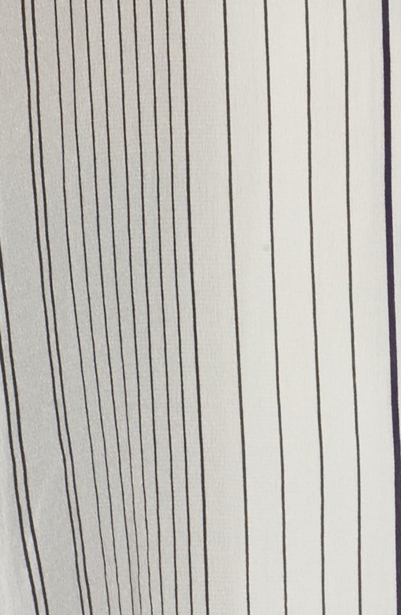 Stripe Silk Shirt,                             Alternate thumbnail 5, color,                             Bone